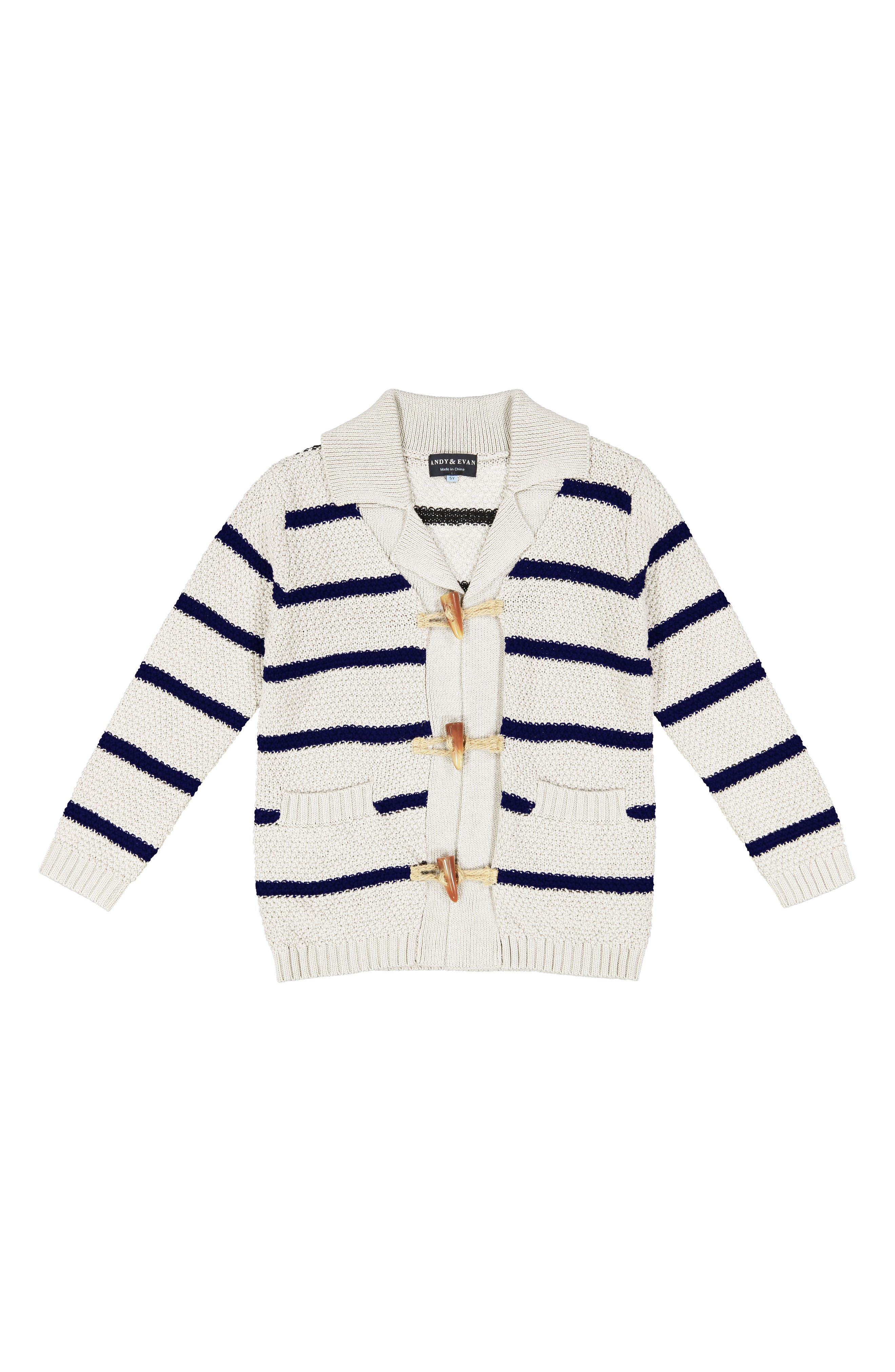 Toggle Cardigan,                         Main,                         color, White
