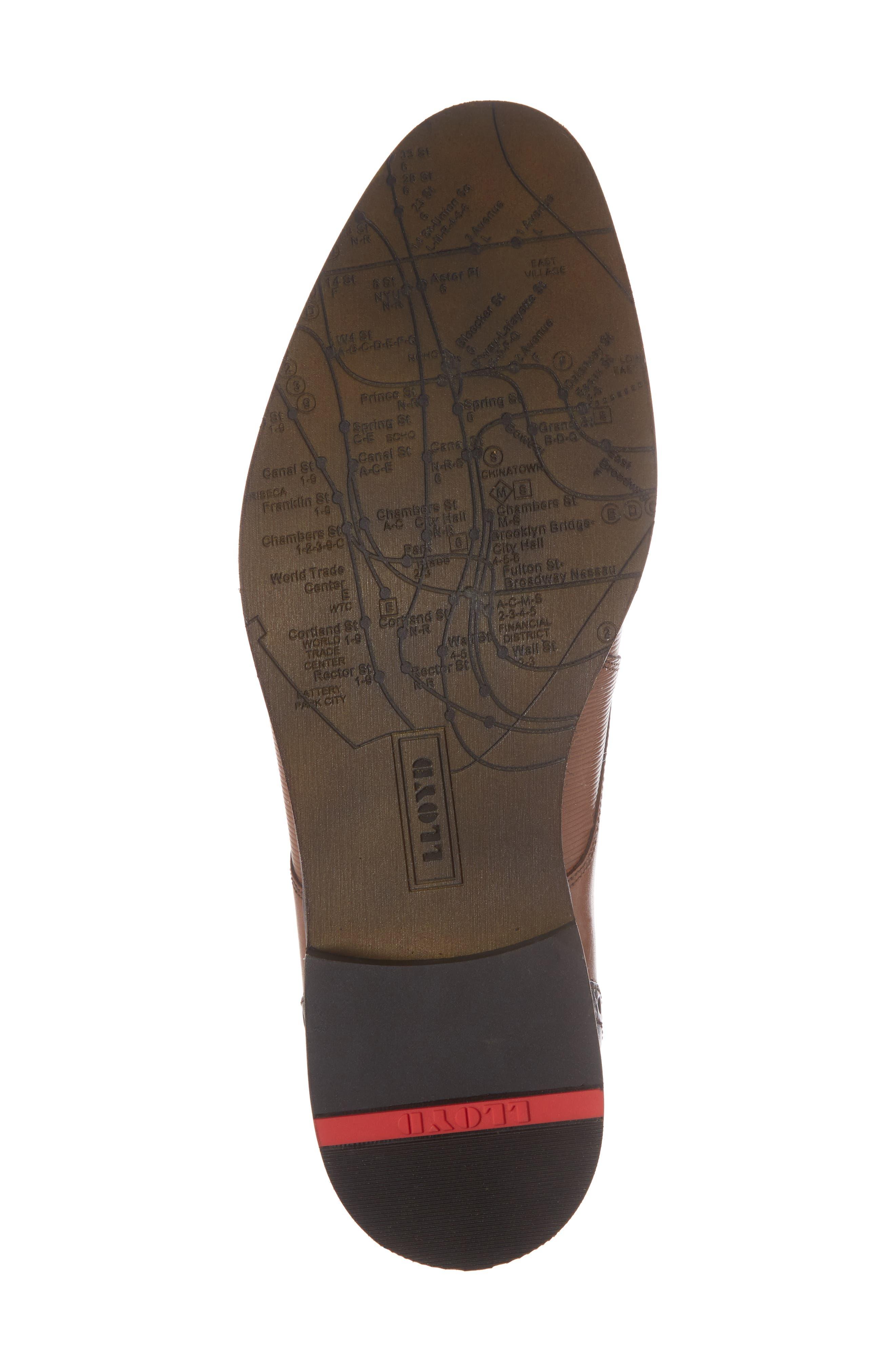 Hamilton Plain Toe Derby,                             Alternate thumbnail 6, color,                             Cognac Leather
