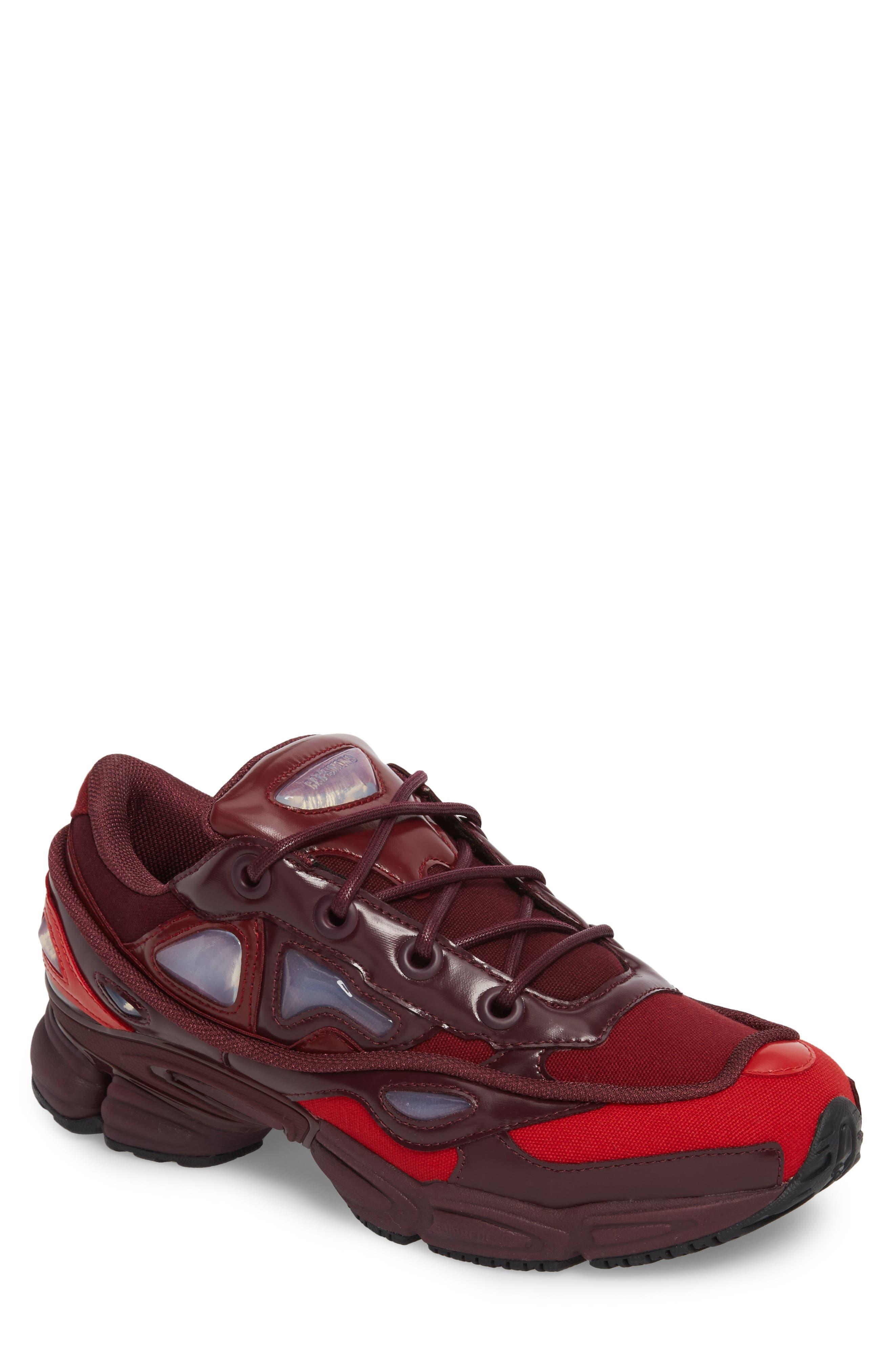 adidas by Raf Simons Ozweego III Sneaker,                         Main,                         color, Burgundy/ Maroon/ Scarlet
