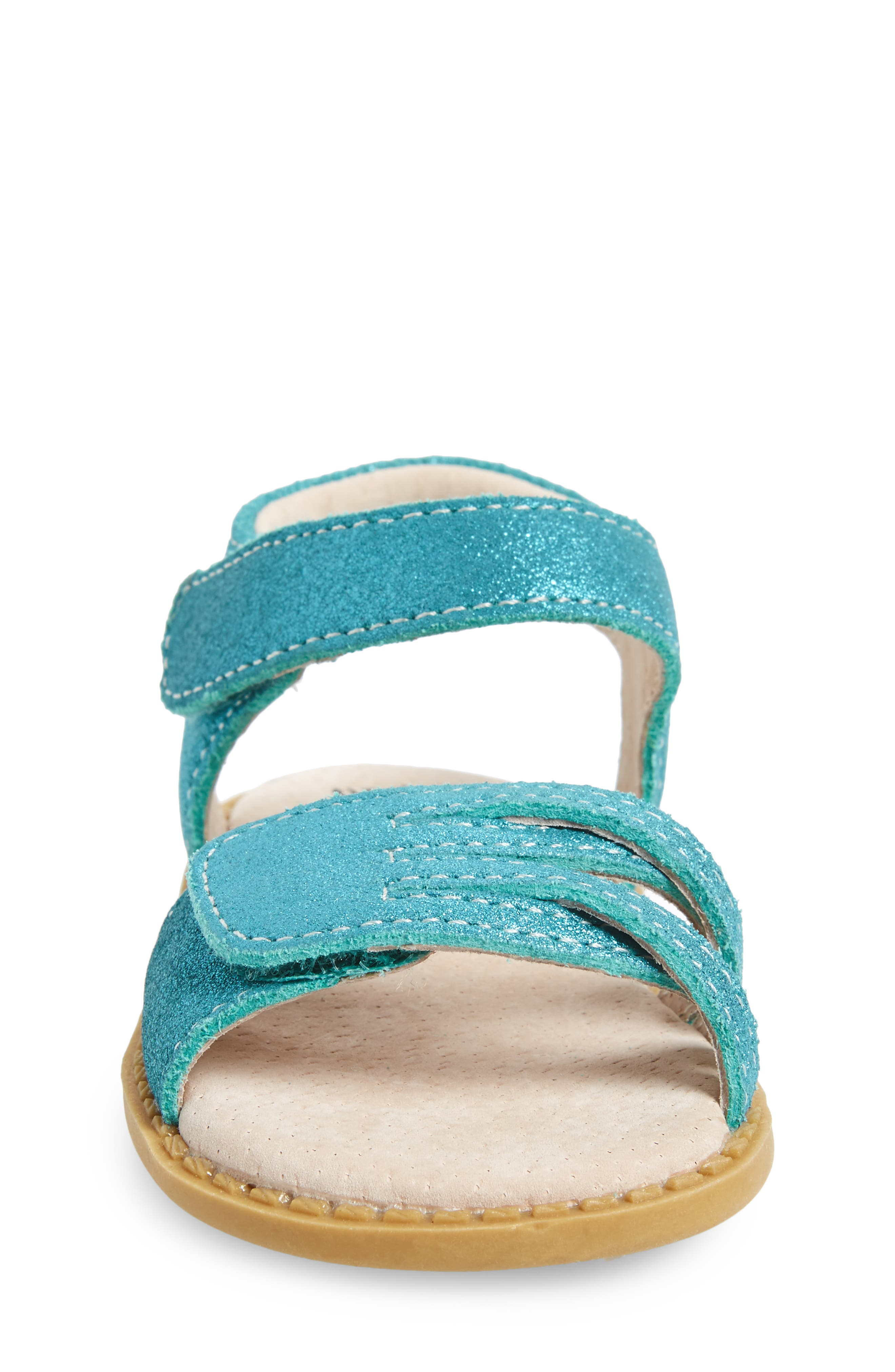 'Athena' Sandal,                             Alternate thumbnail 4, color,                             Aqua Shimmer
