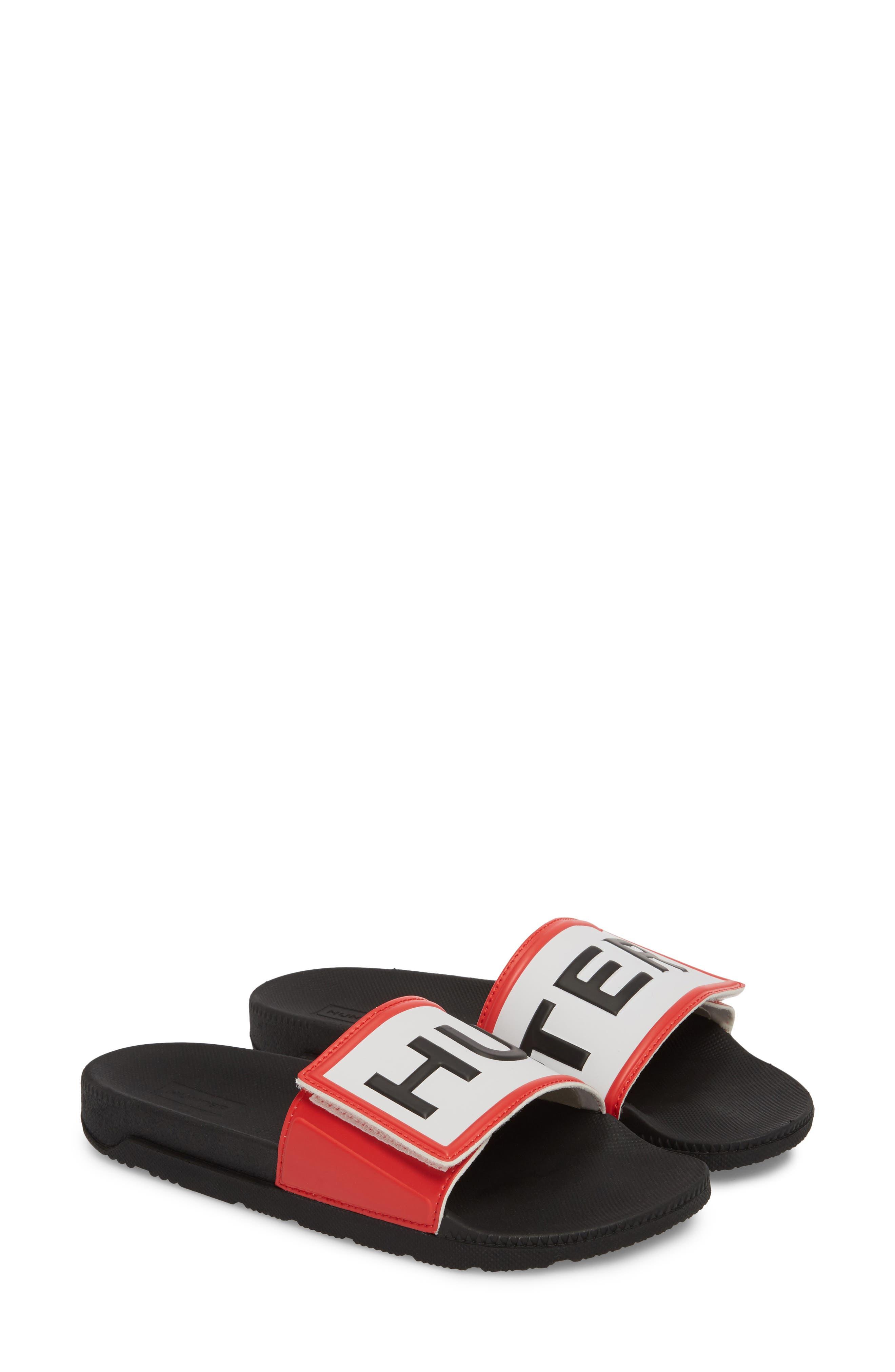 Original Adjustable Logo Slide Sandal,                             Alternate thumbnail 2, color,                             Black/ Black