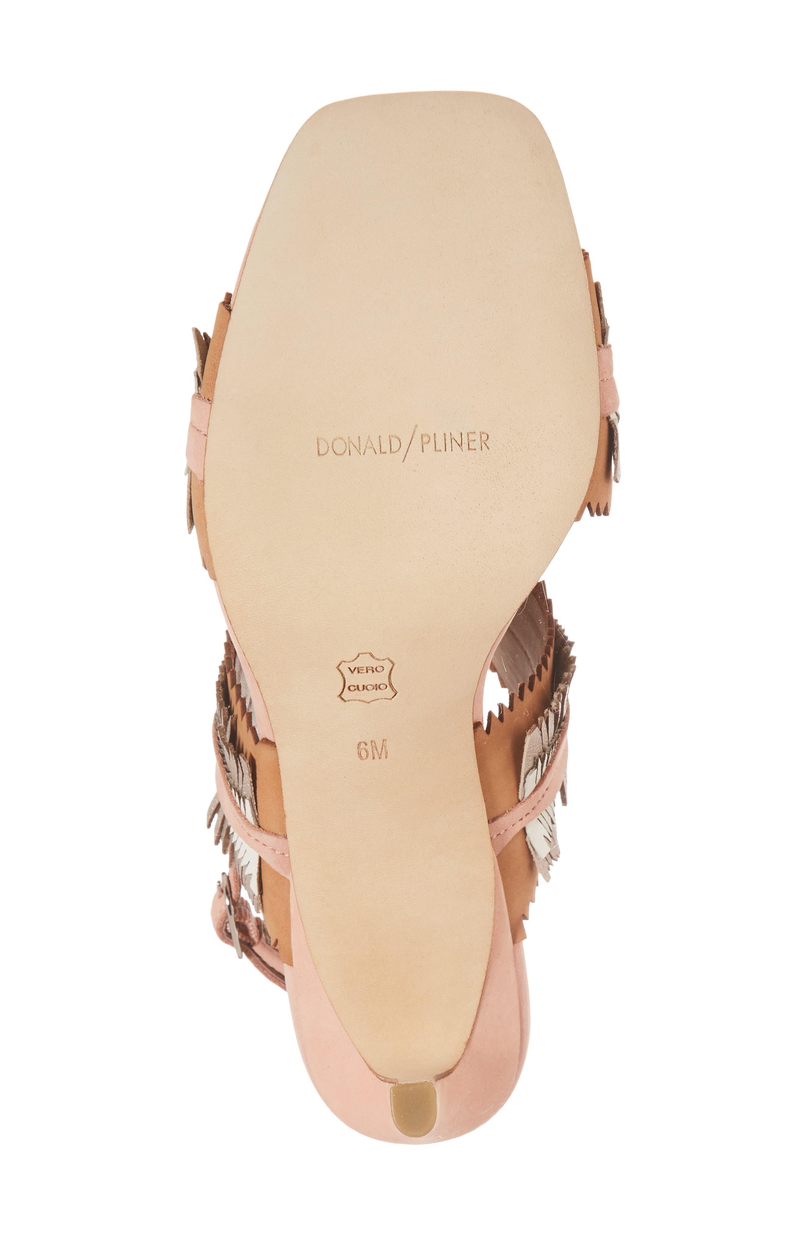 Kit Fringe Sandal,                             Alternate thumbnail 6, color,                             Rose Leather