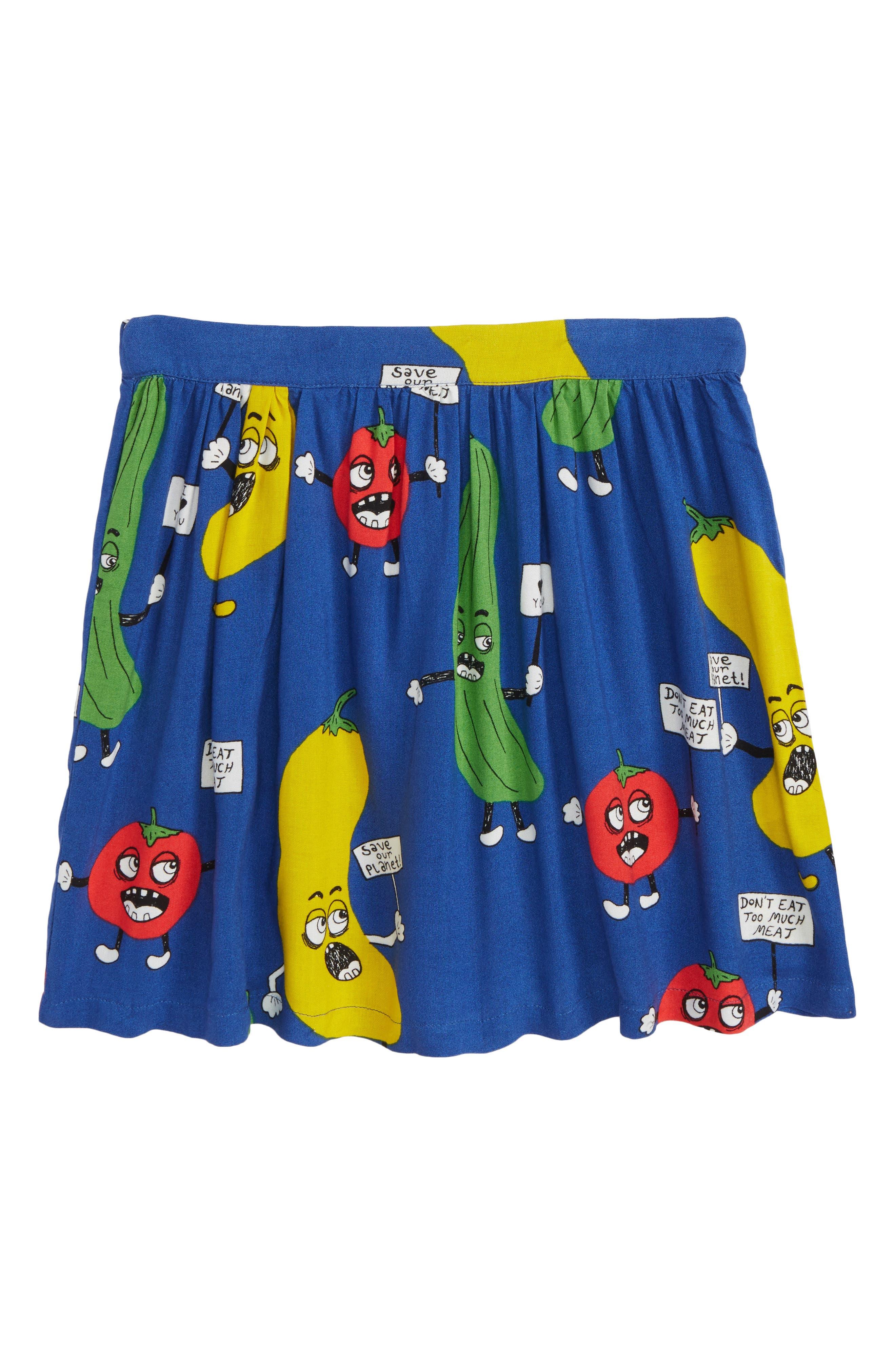 Veggie Skirt,                             Main thumbnail 1, color,                             Blue