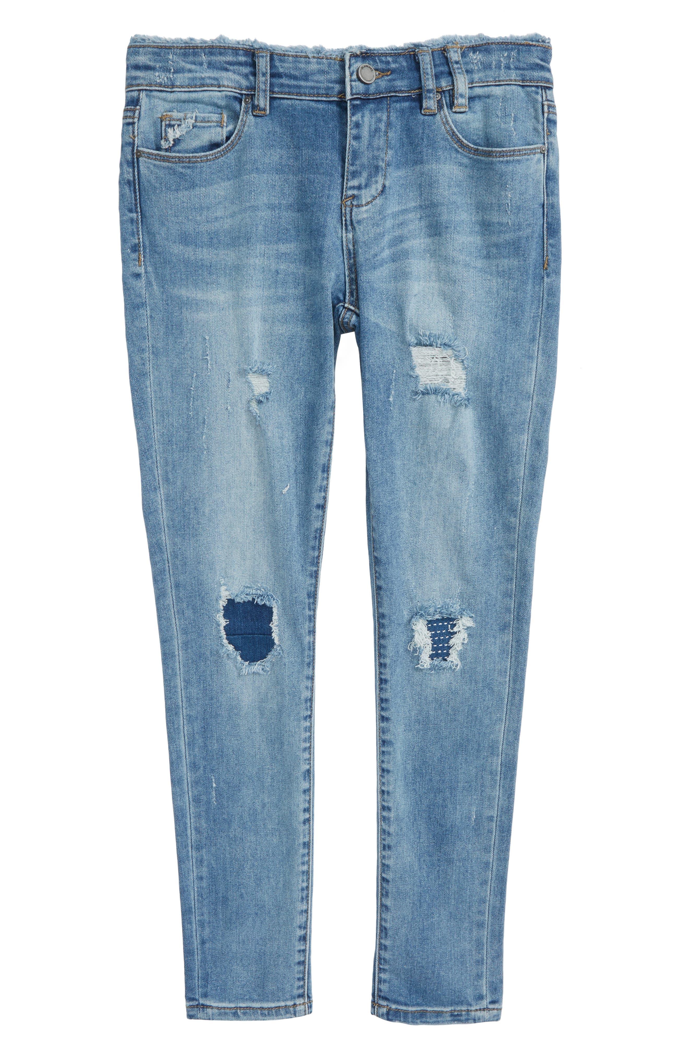 Ripped Boyfriend Jeans,                         Main,                         color, Cloud Nine