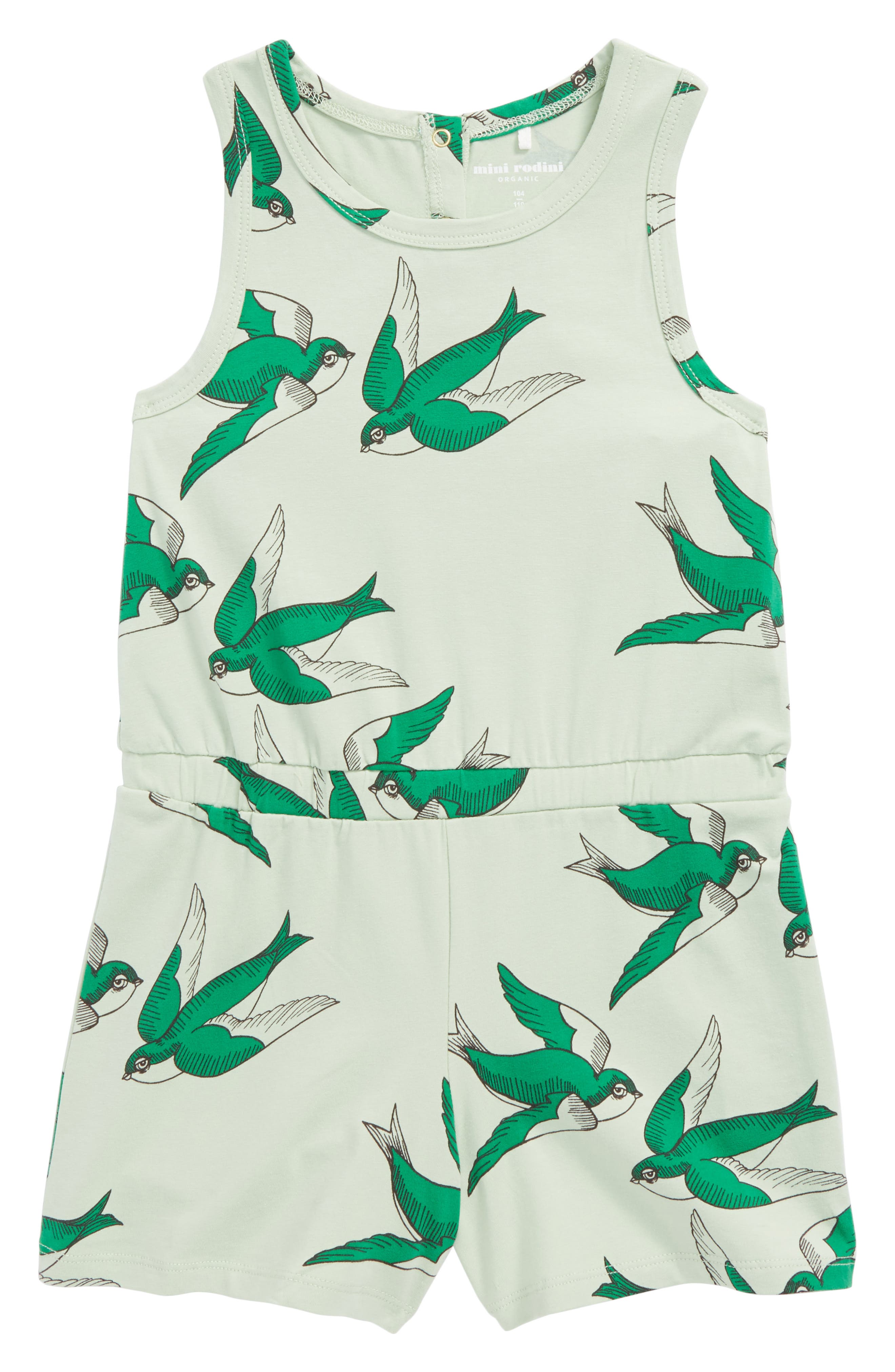 Swallows Romper,                             Main thumbnail 1, color,                             Green