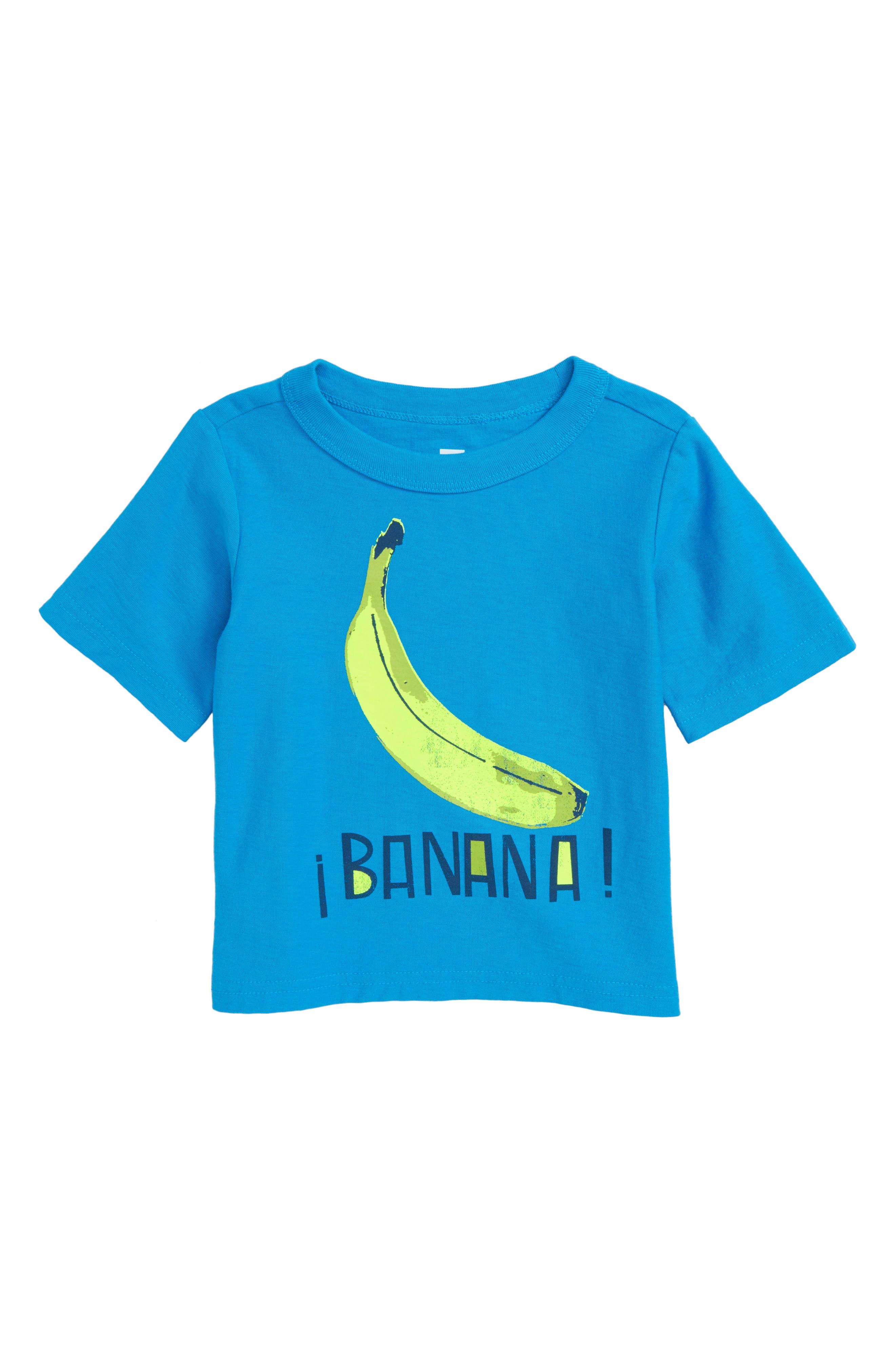 Banana Graphic T-Shirt,                             Main thumbnail 1, color,                             Tropic