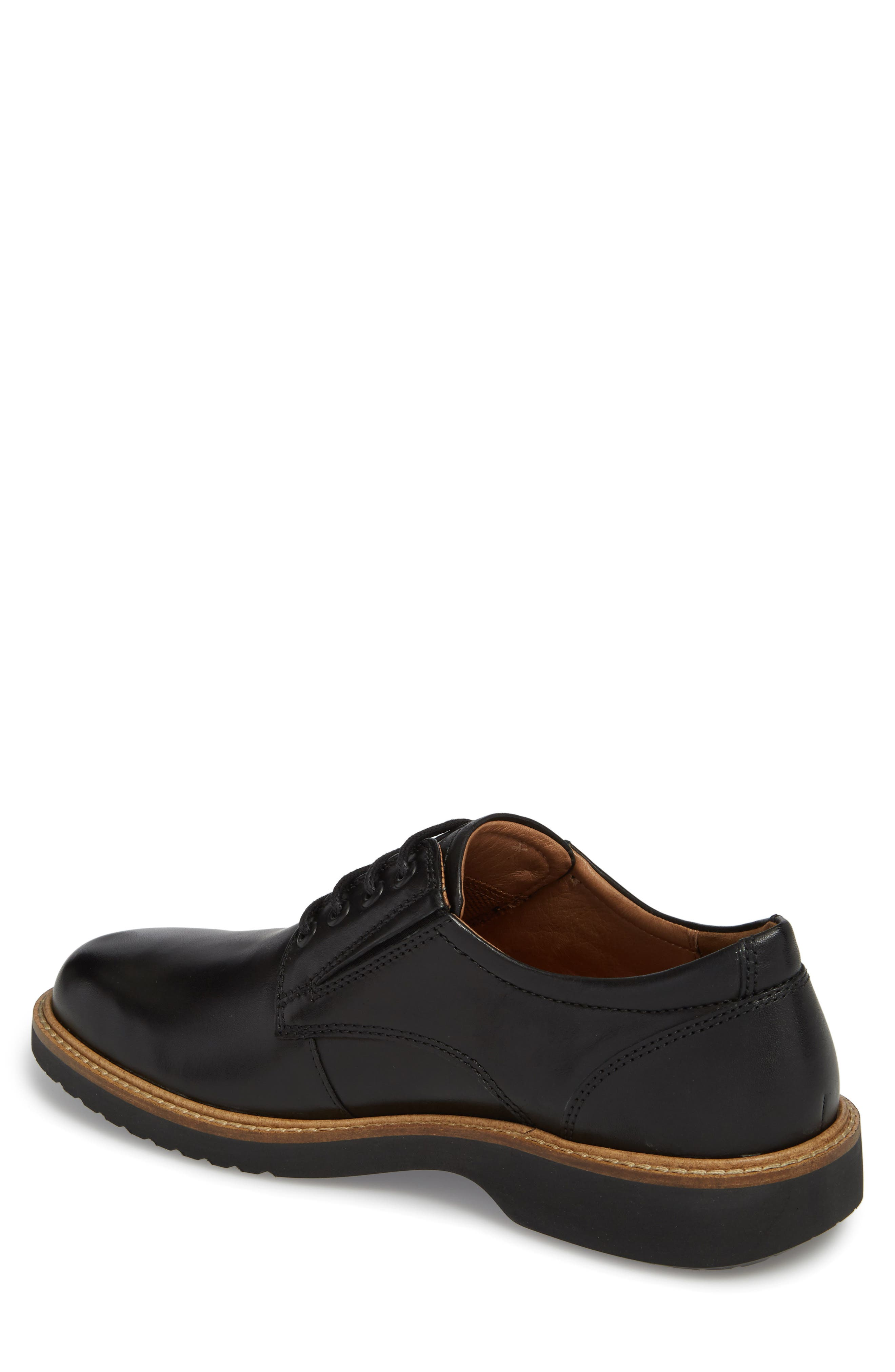 Ian Casual Plain Toe Derby,                             Alternate thumbnail 2, color,                             Black Leather