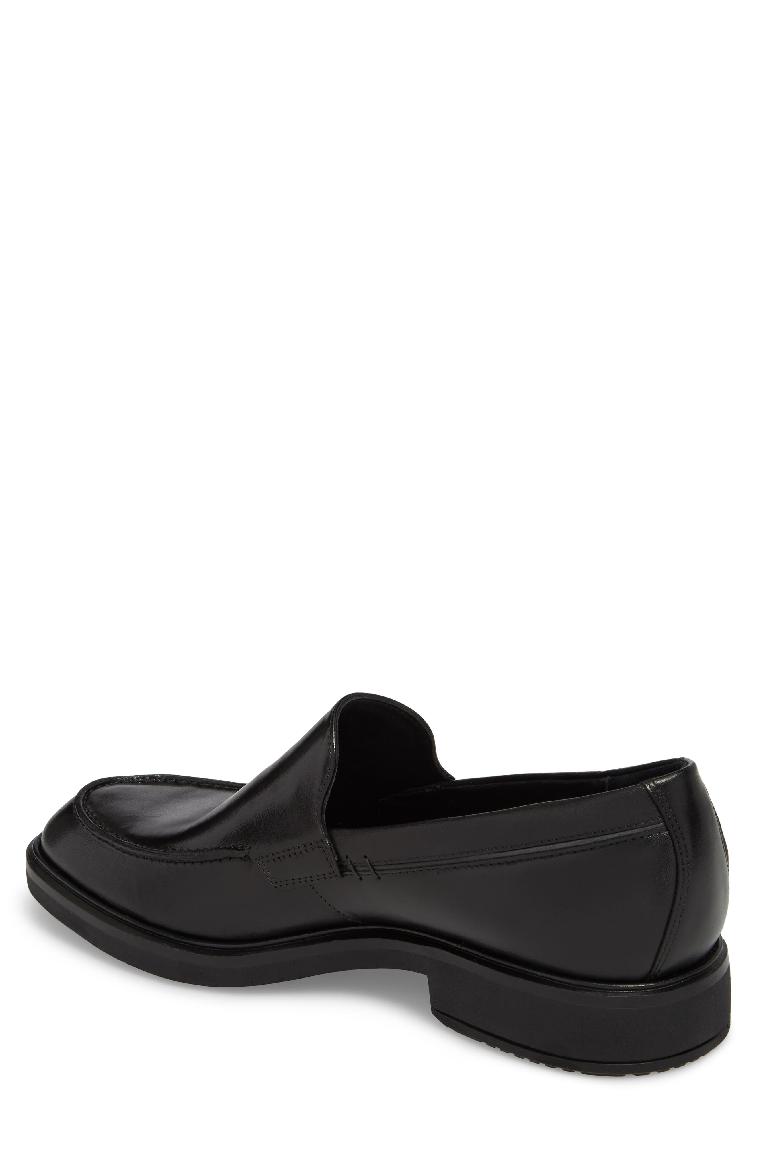 Vitrus II Apron Toe Loafer,                             Alternate thumbnail 2, color,                             Black Leather