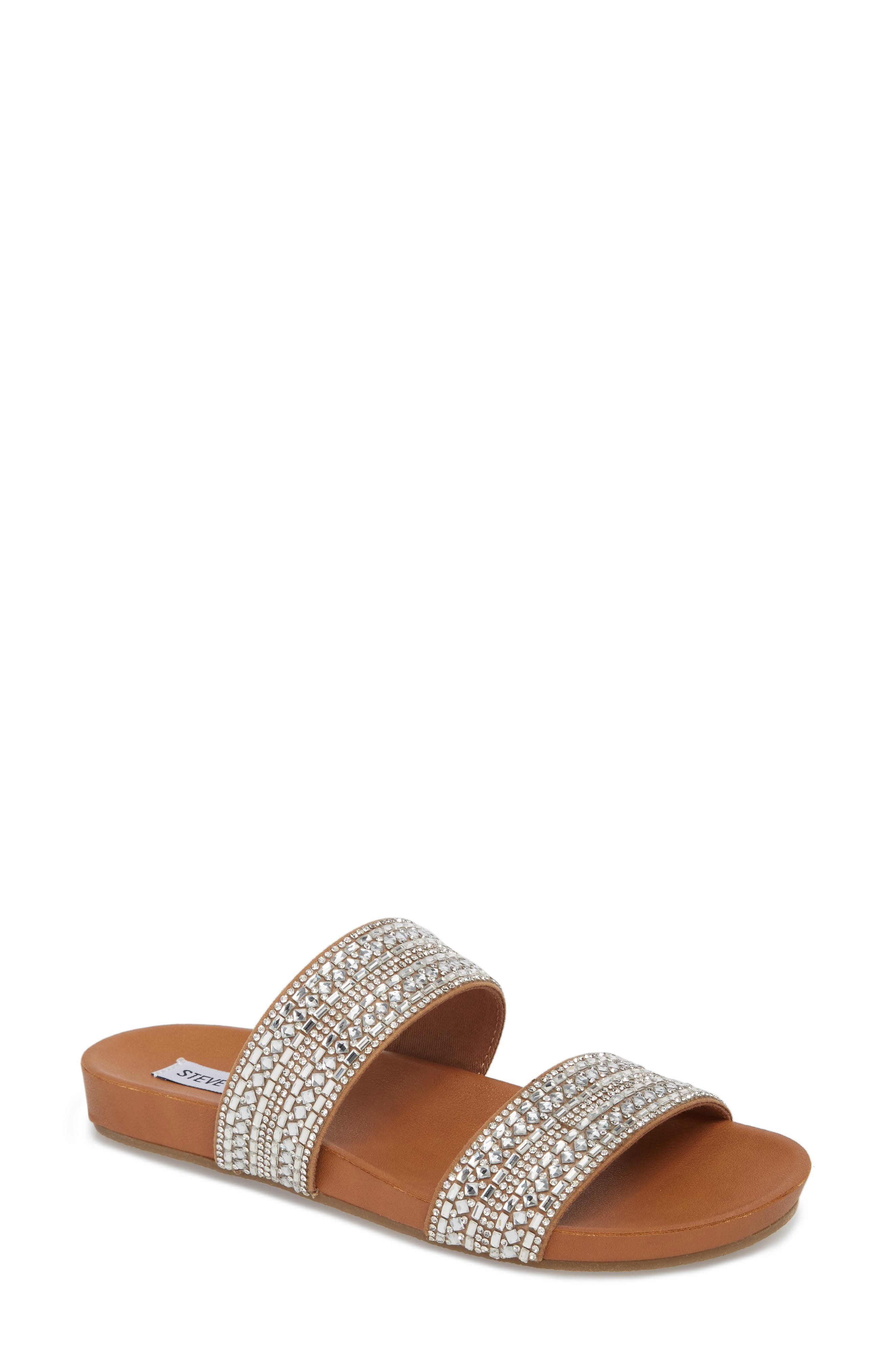 Steve Madden Dynamo Embellished Slide Sandal (Women)