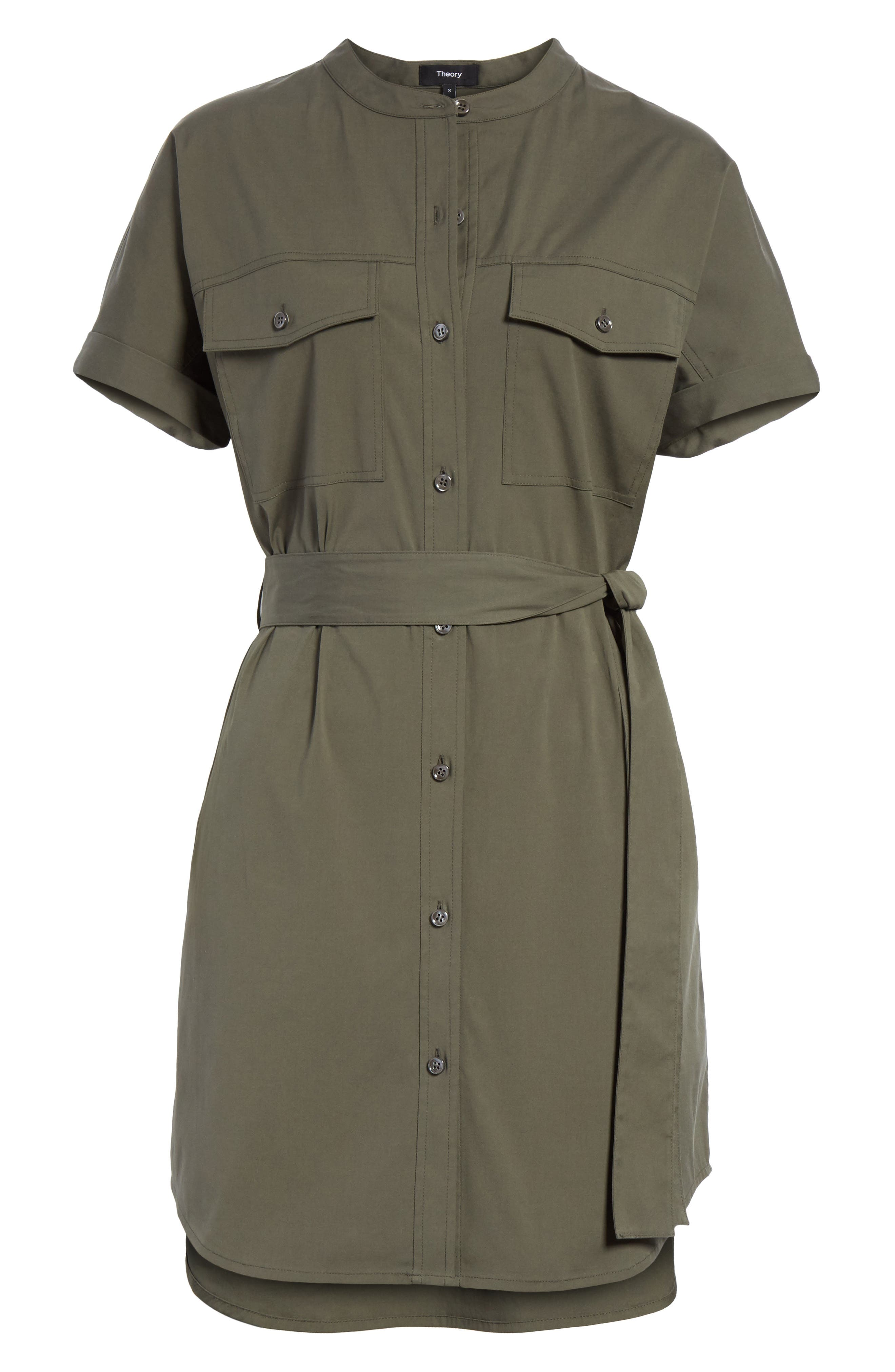 Stretch Cotton Cargo Dress,                             Alternate thumbnail 6, color,                             Wig Bright Faded Army