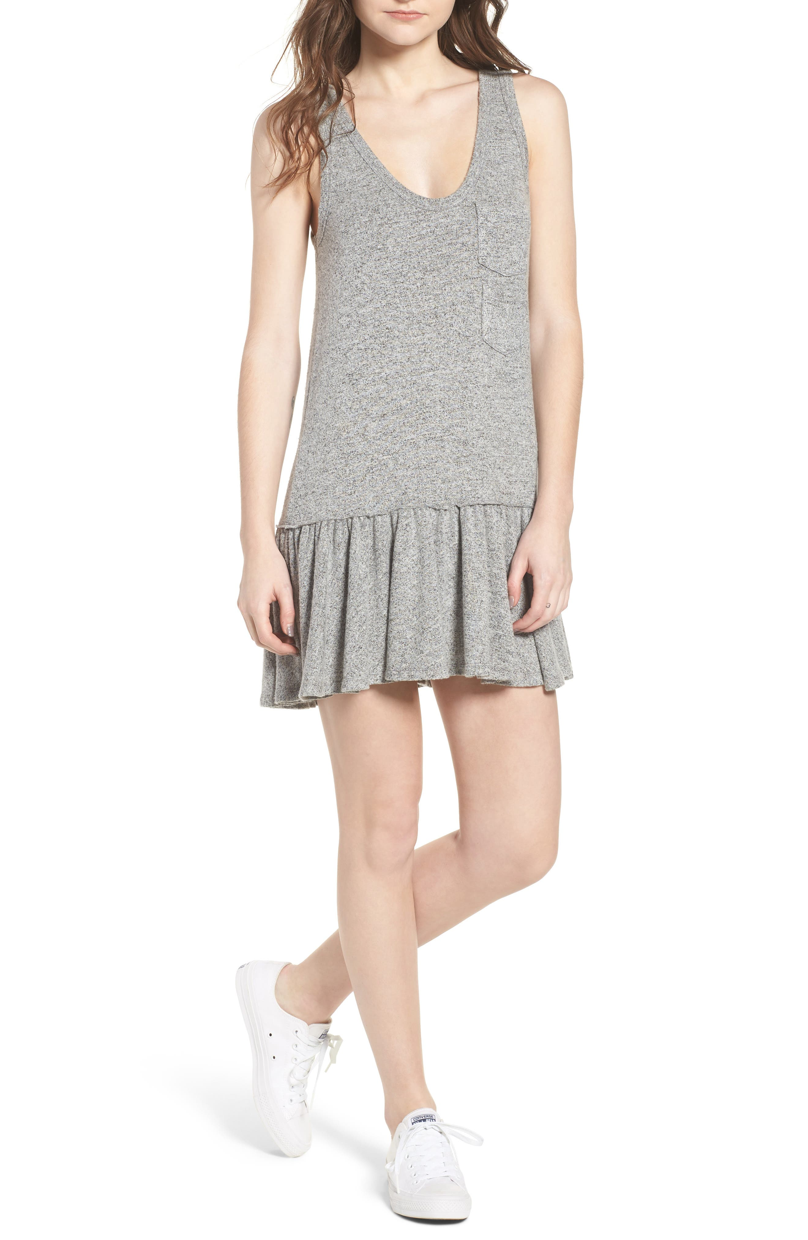Summer in the City Tank Dress,                         Main,                         color, Heather