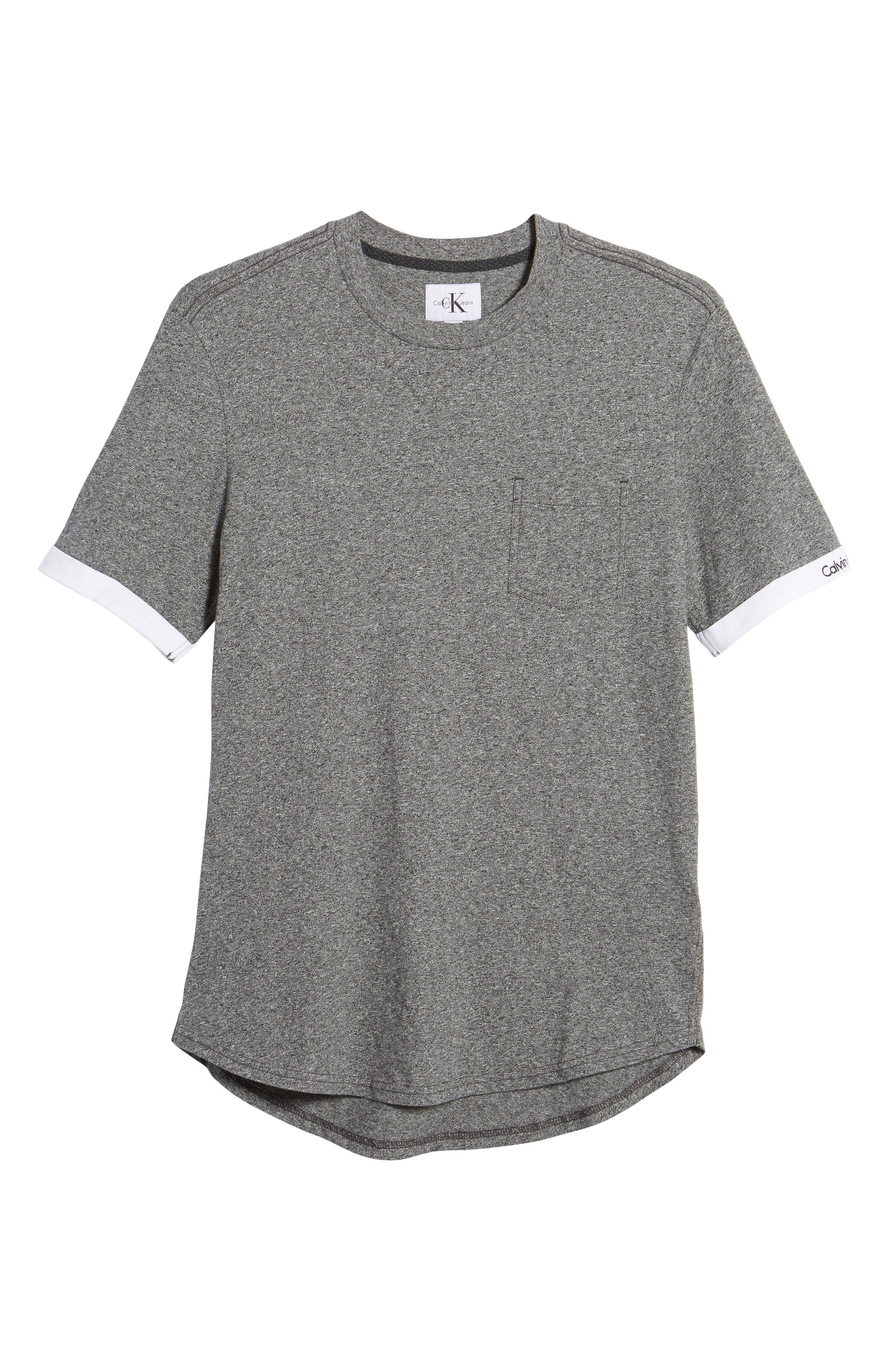 Rolled Cuff Pocket T-Shirt,                             Alternate thumbnail 6, color,                             Granite Heather