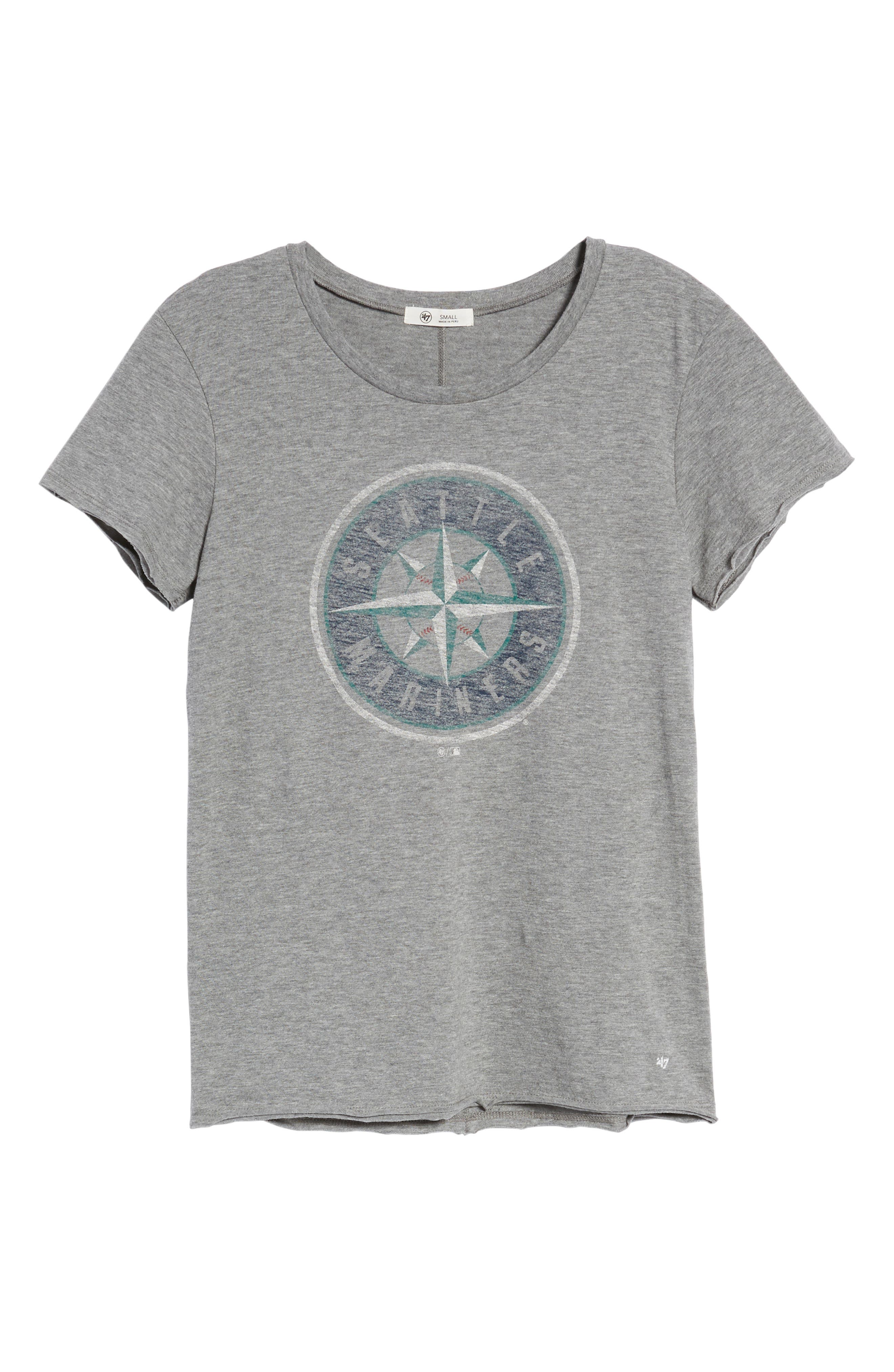 Seattle Mariners Fader Letter Tee,                             Alternate thumbnail 7, color,                             Slate Grey
