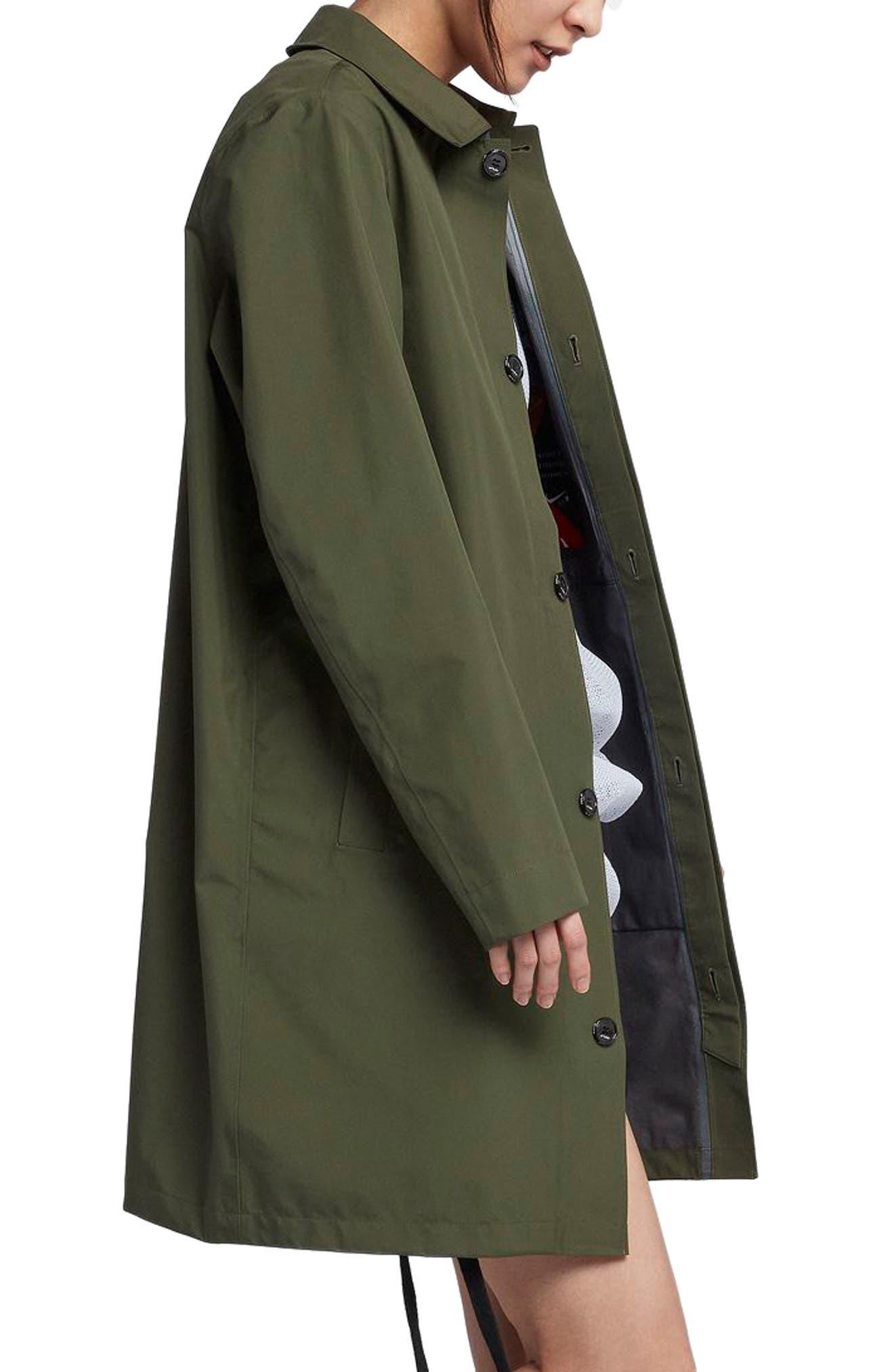 NikeLab x RT Women's Water Resistant Car Coat,                             Alternate thumbnail 2, color,                             Surplus Green