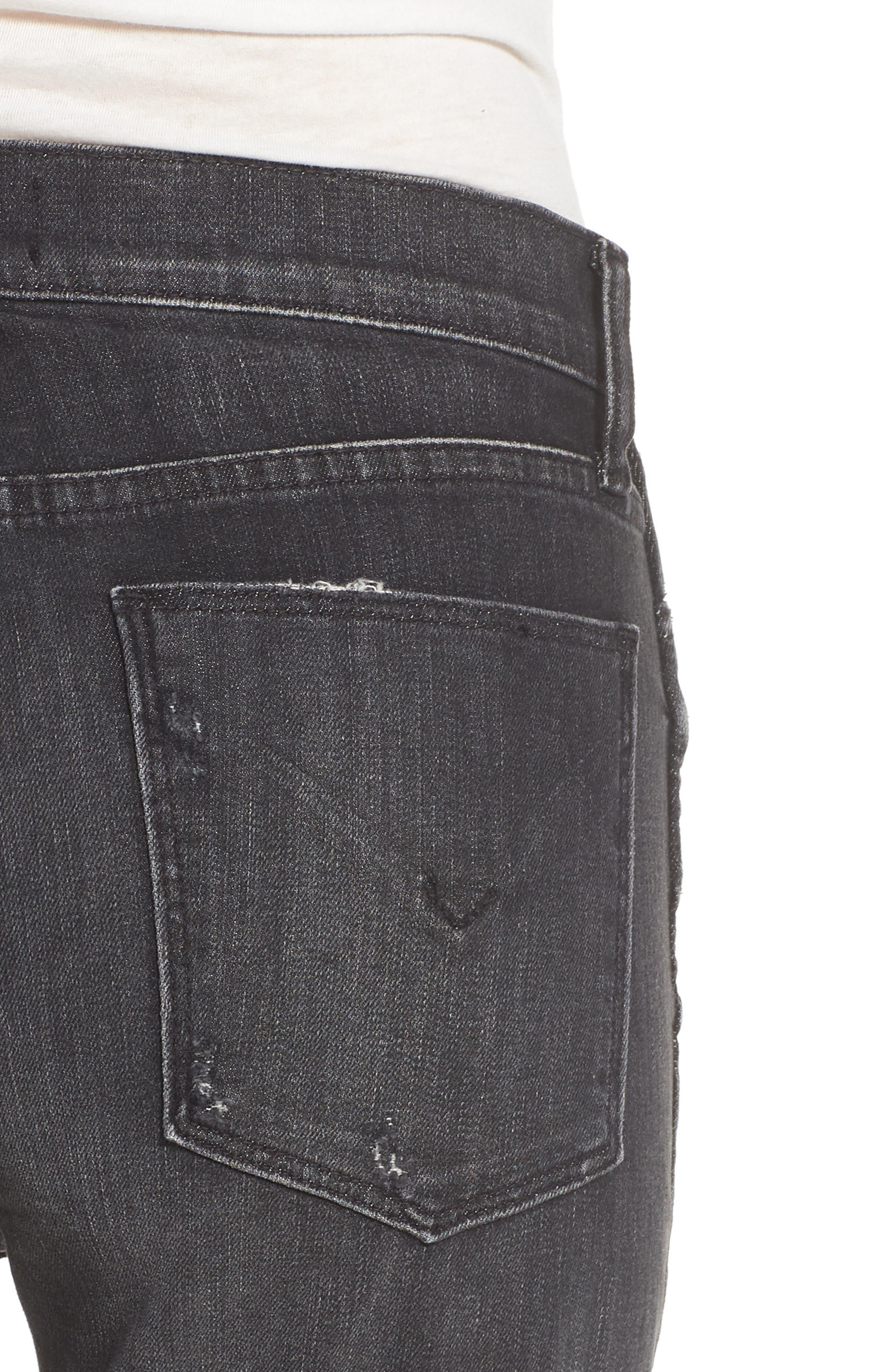 Vintage Holly High Waist Crop Skinny Jeans,                             Alternate thumbnail 4, color,                             Jawbreaker