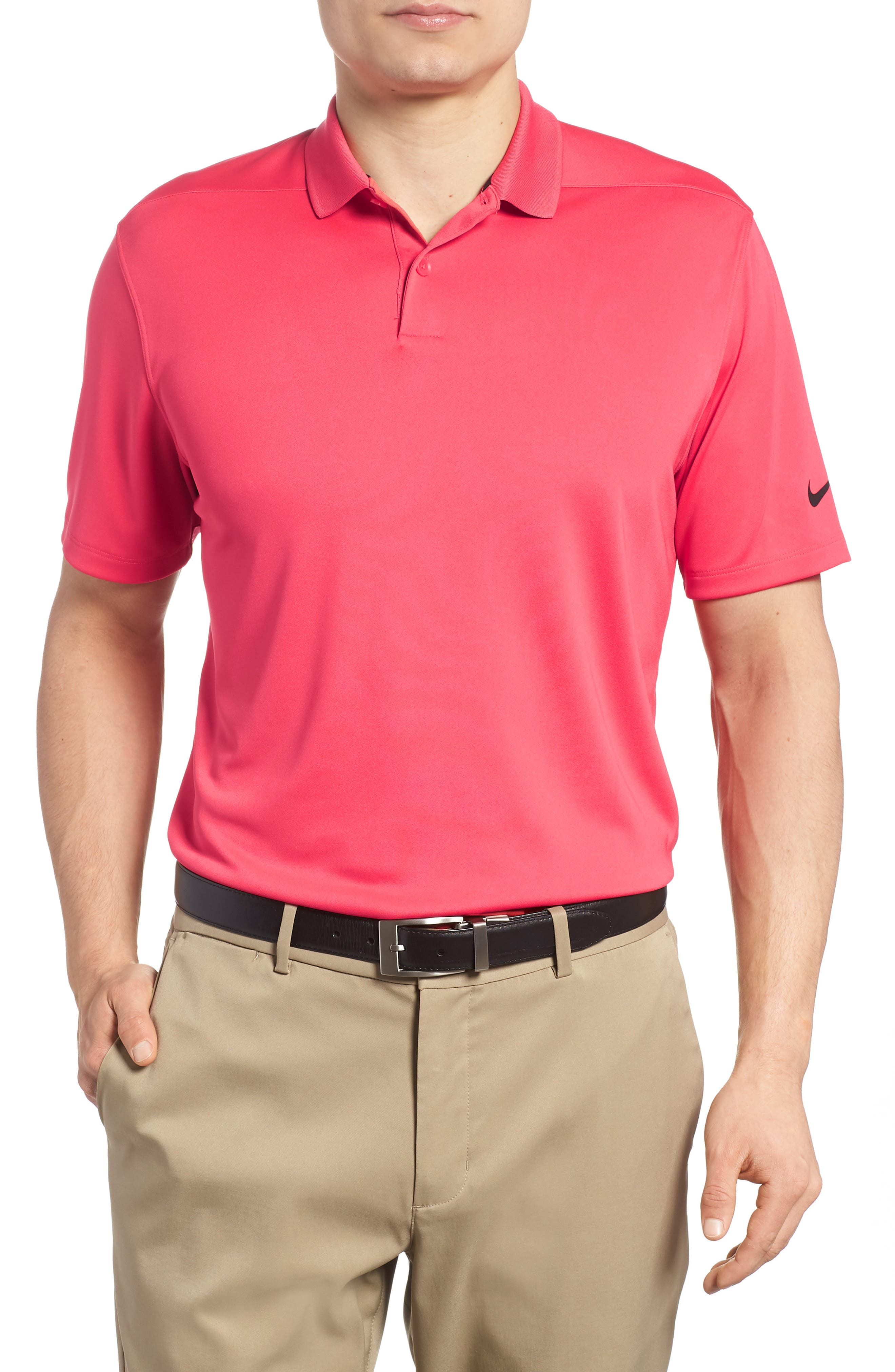 Dry Victory Golf Polo,                         Main,                         color, Tropical Pink/ Black