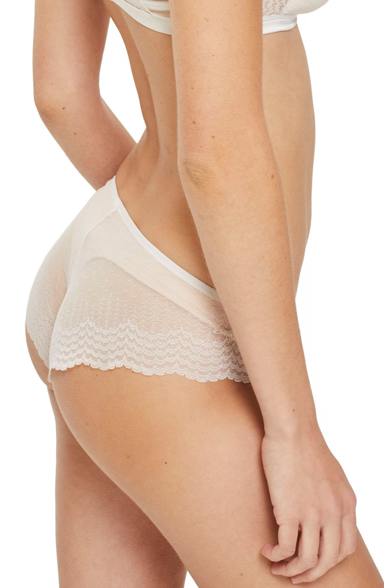 Marie Lace Panties,                             Alternate thumbnail 2, color,                             Ivory
