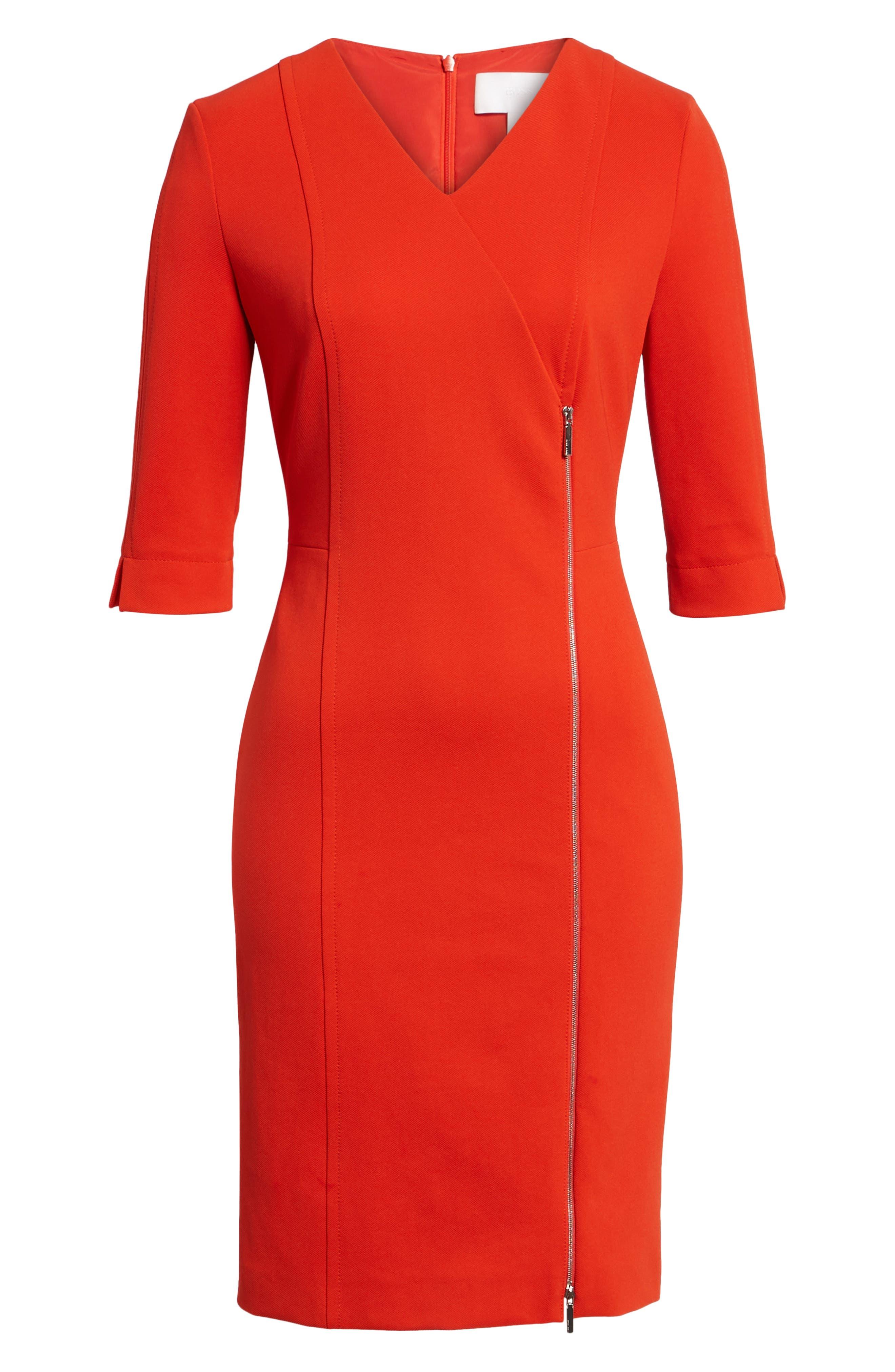 Alternate Image 6  - BOSS Deazema Twill Jersey Dress
