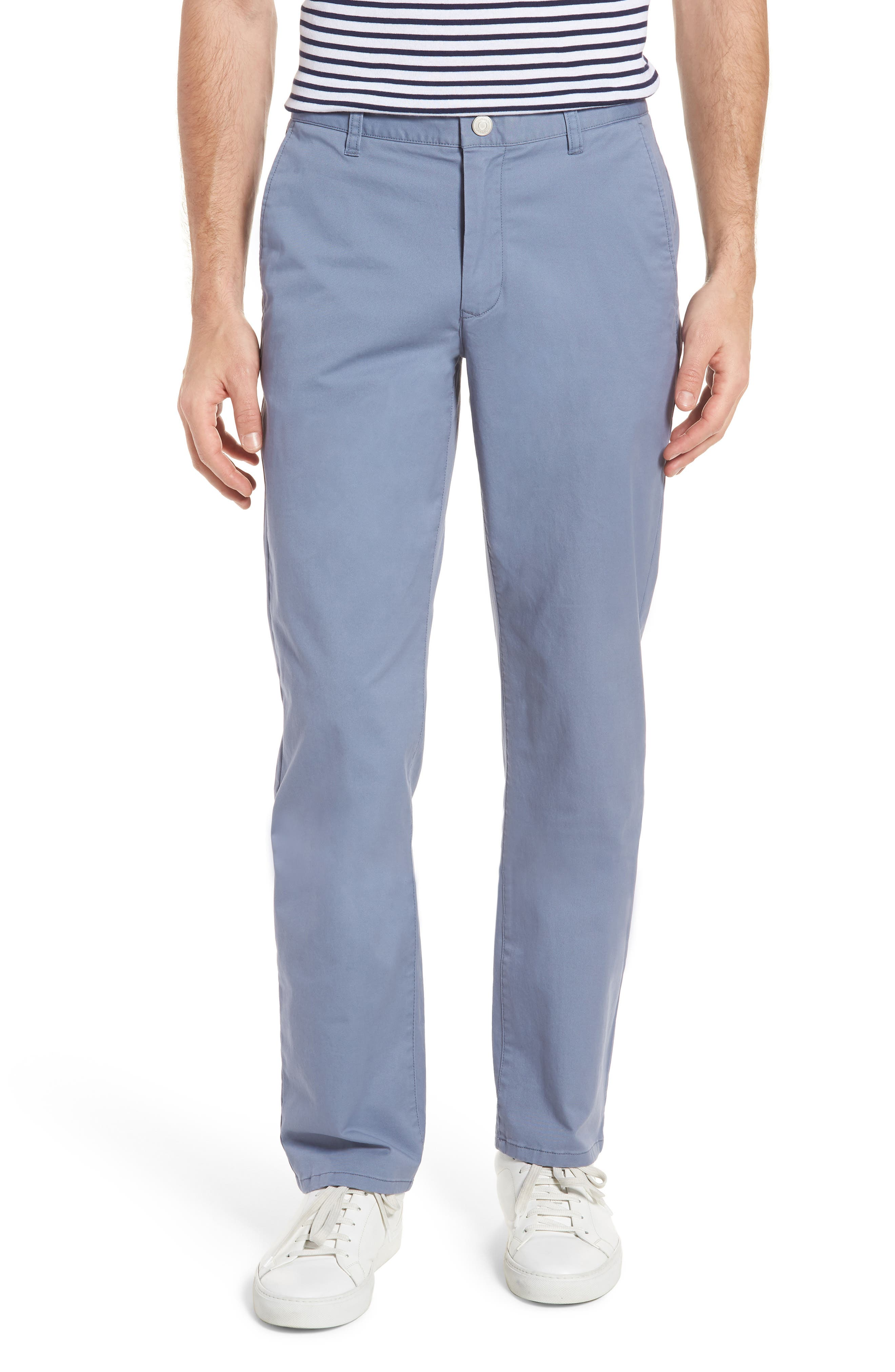Straight Leg Stretch Washed Chinos,                         Main,                         color, Tempest Purple