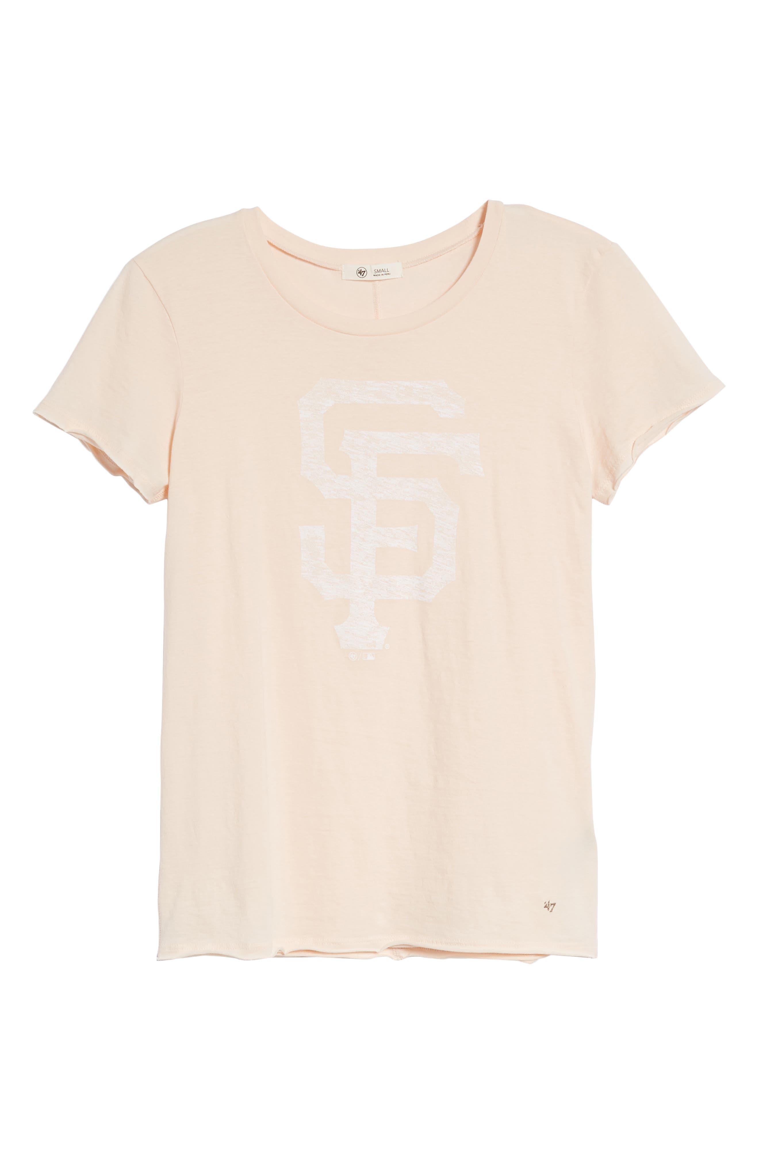 San Francisco Giants Fader Letter Tee,                             Alternate thumbnail 7, color,                             Blush