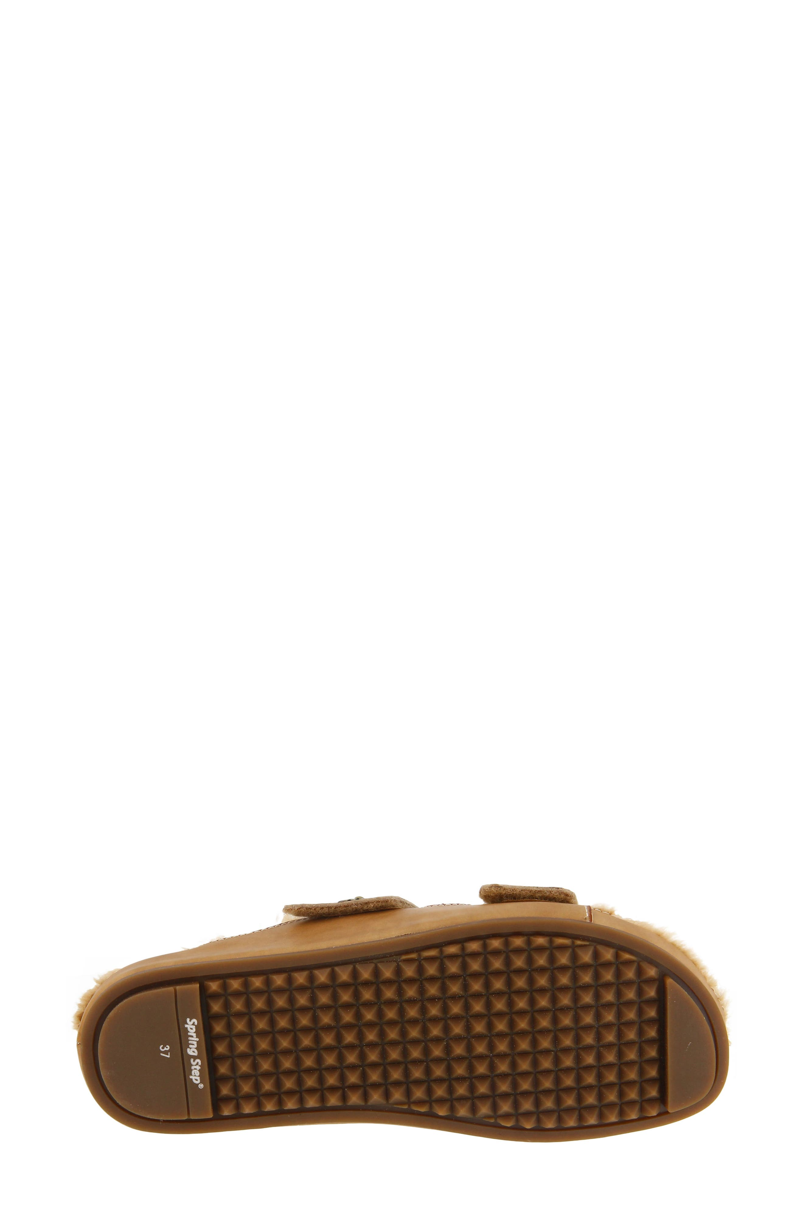 L'Artiste Furrie Sandal,                             Alternate thumbnail 6, color,                             Beige Leather