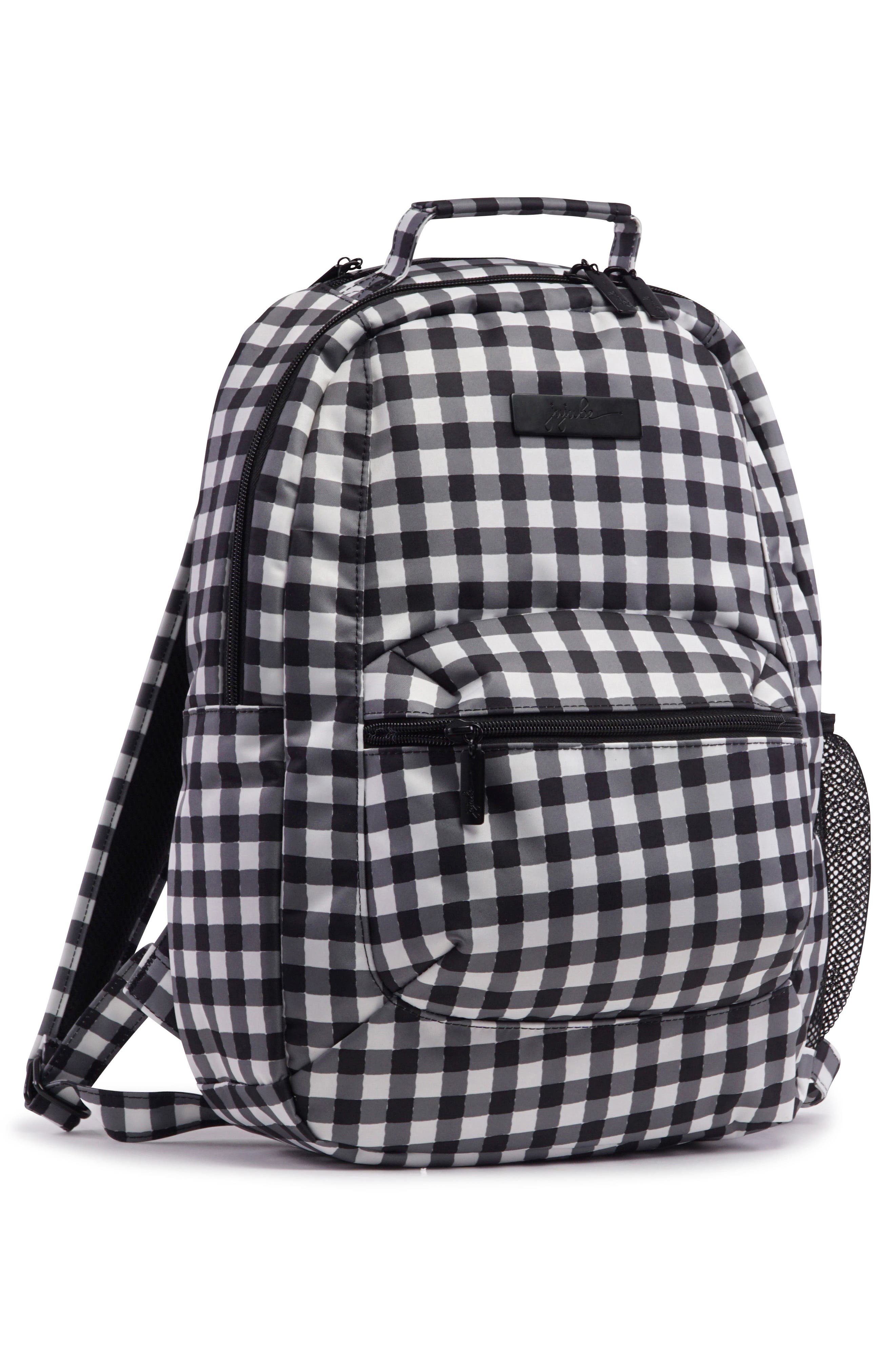 Onyx Be Packed Diaper Backpack,                             Alternate thumbnail 6, color,                             Gingham Style