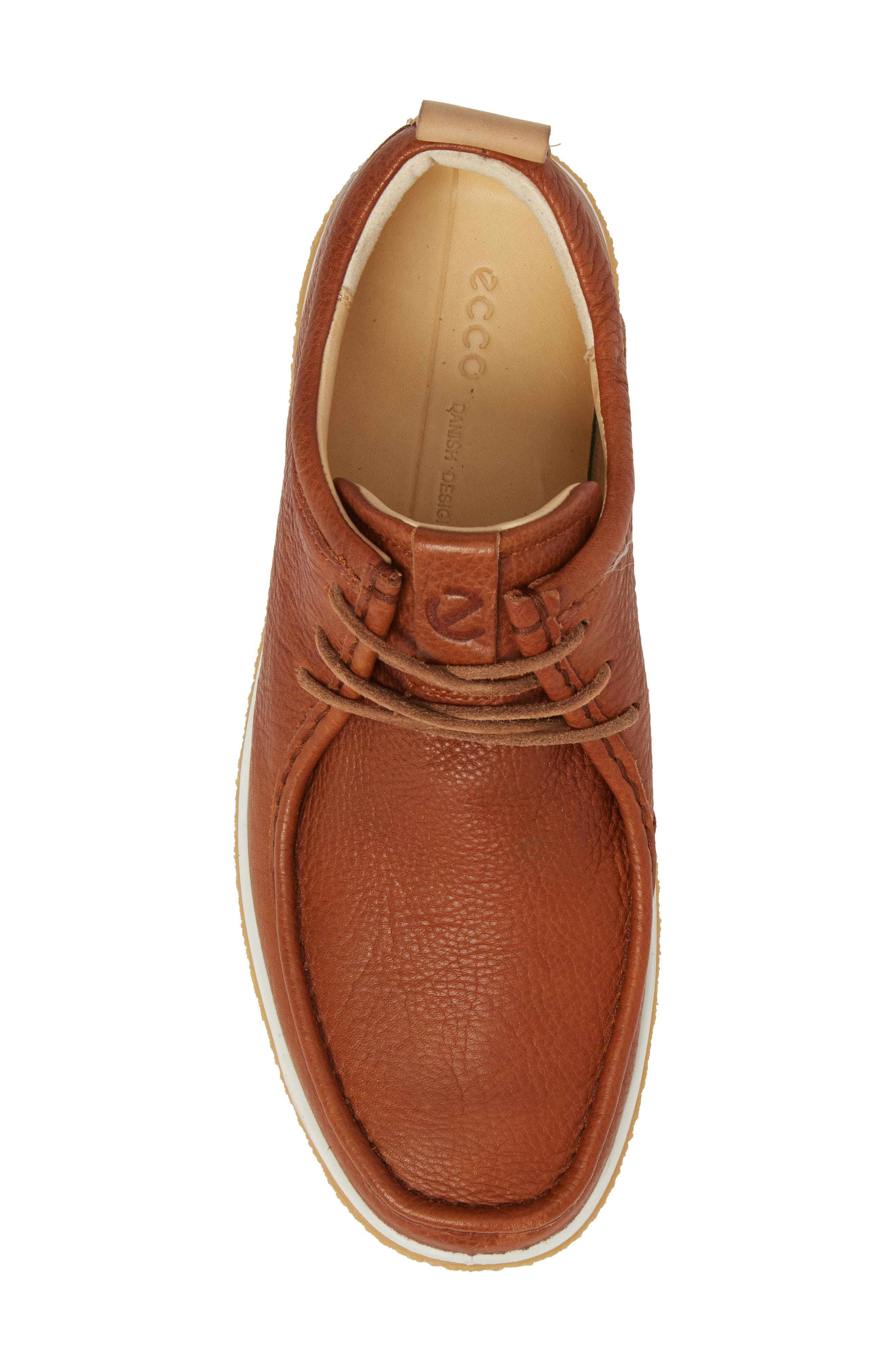 Crepetray Moc Toe Lace-Up,                             Alternate thumbnail 5, color,                             Lion Leather