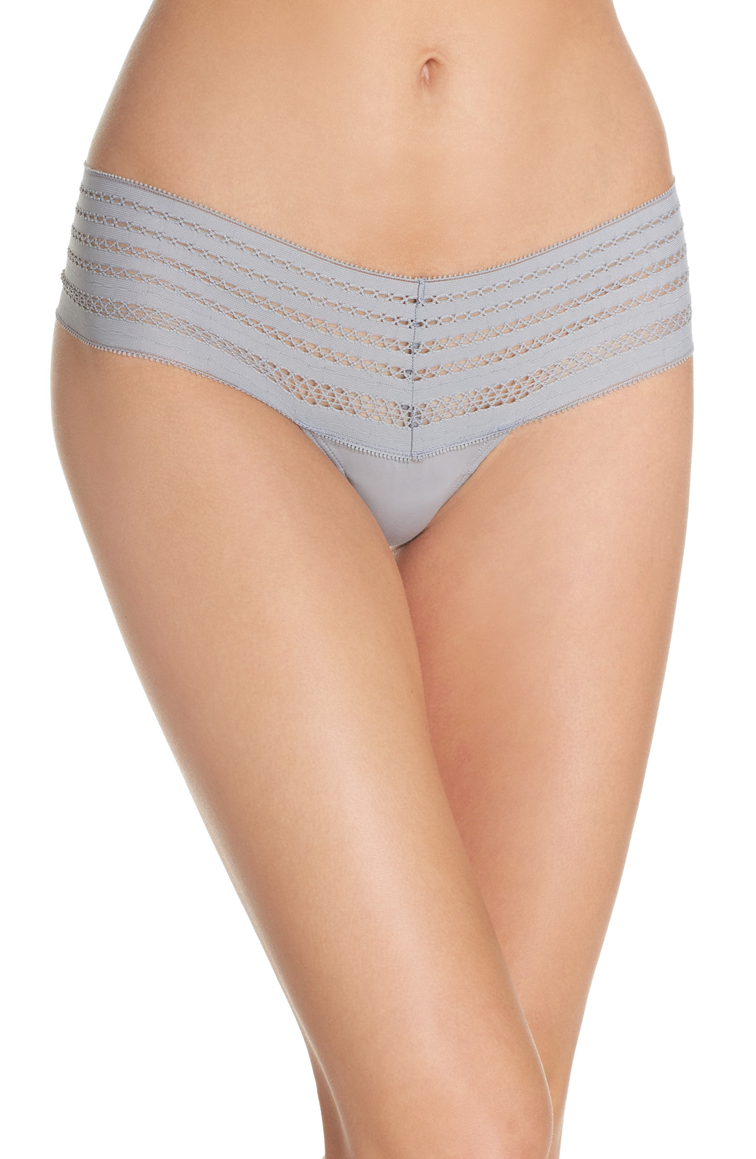 Lace Thong,                         Main,                         color, Mid Grey