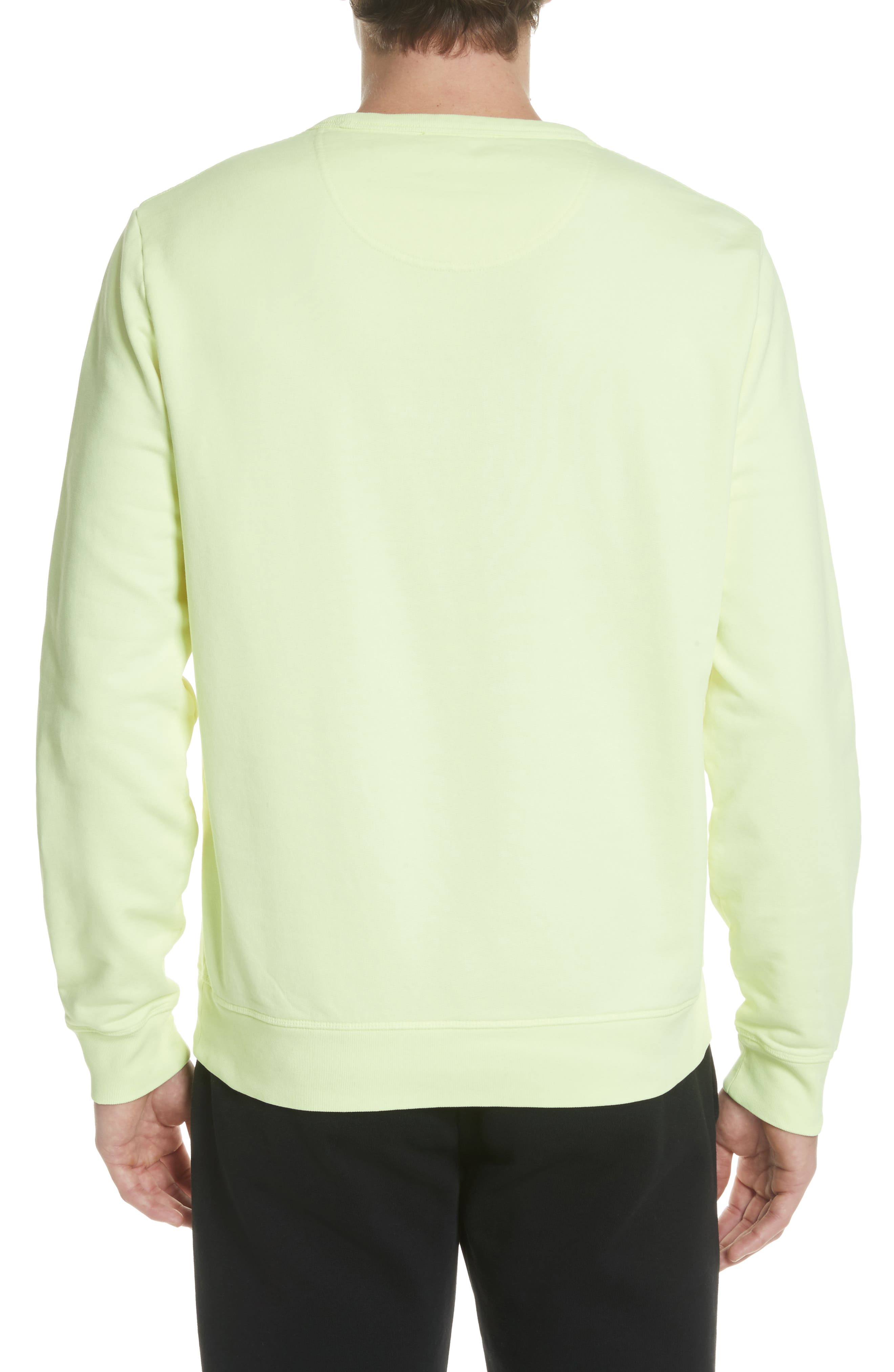 Sauer Graphic Crewneck Sweatshirt,                             Alternate thumbnail 2, color,                             Bright Lemon