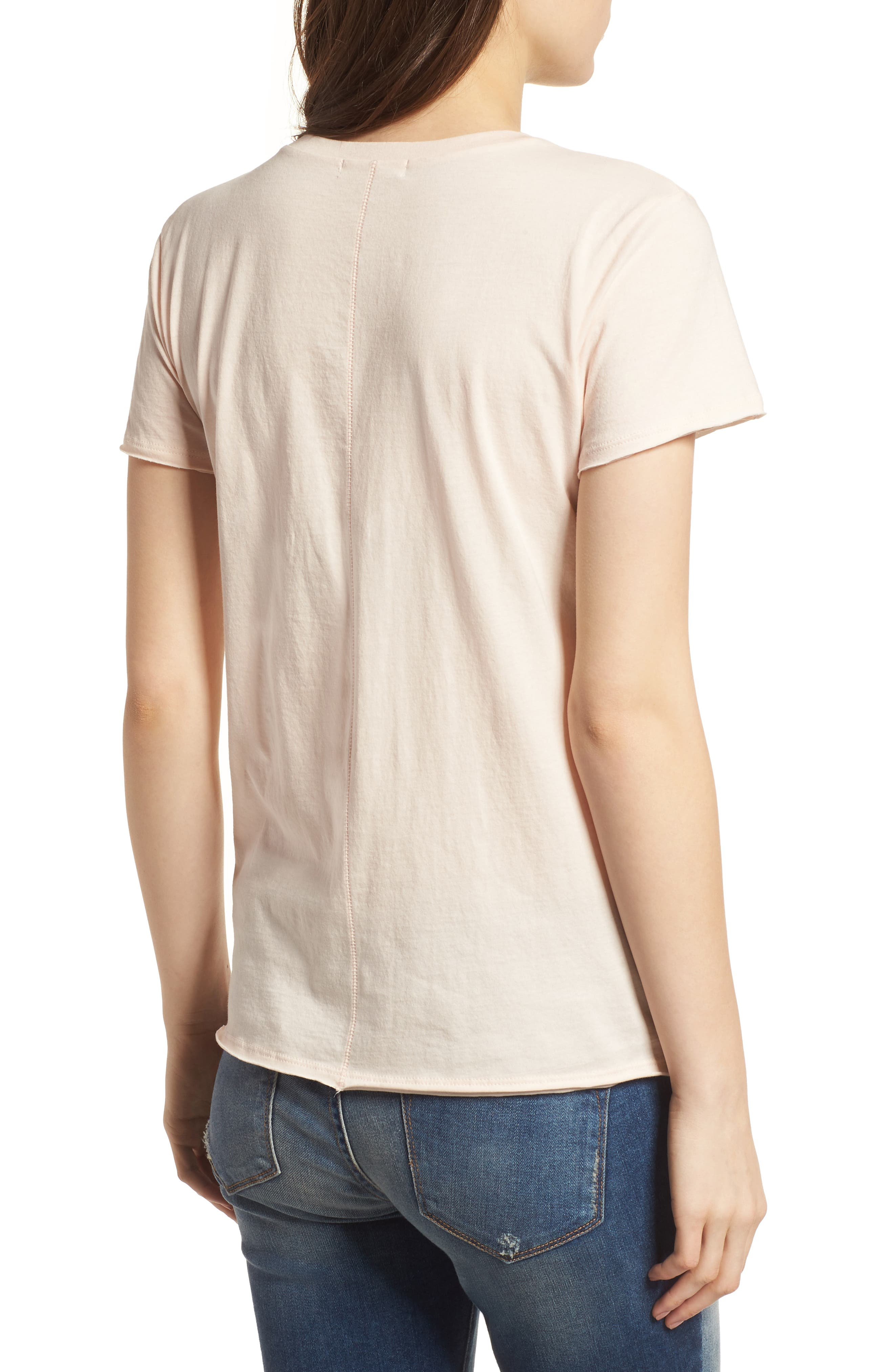 Los Angeles Dodgers Fader Letter Tee,                             Alternate thumbnail 2, color,                             Blush