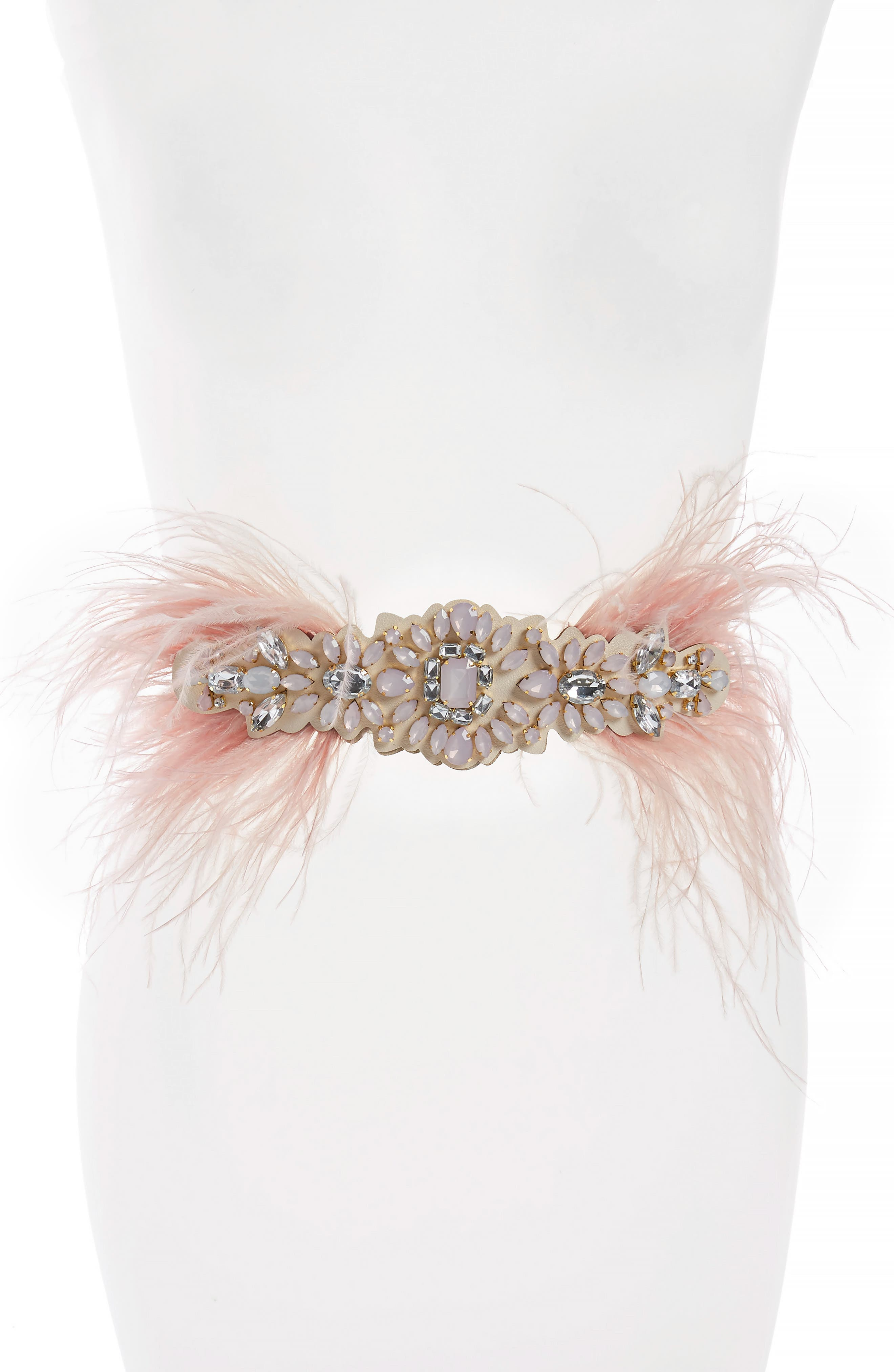Tasha Feather & Crystal Stretch Belt