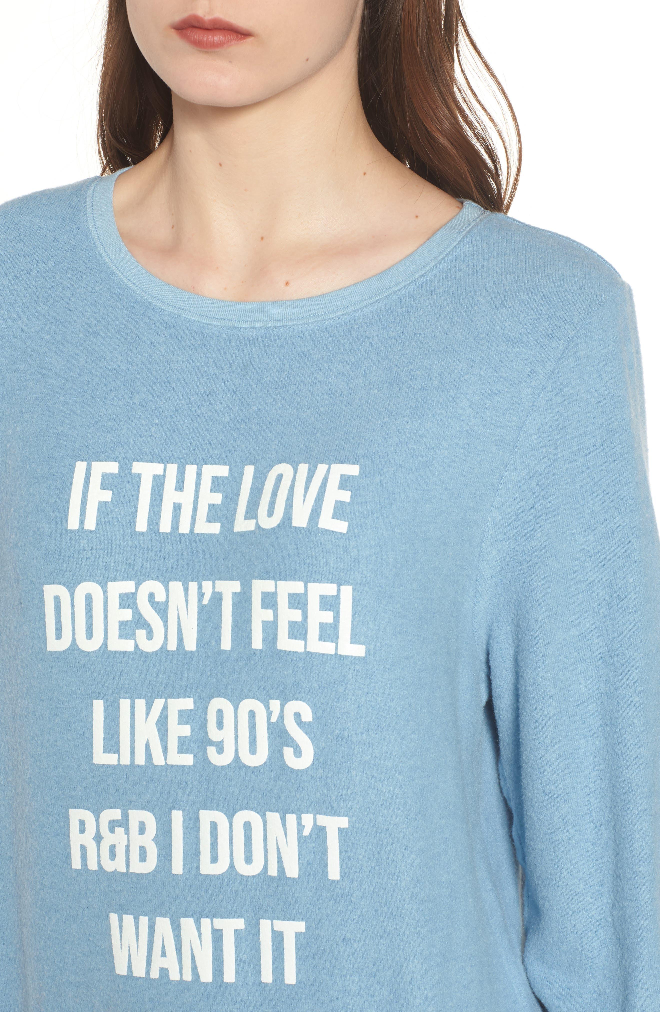 '90s R&B Baggy Beach Pullover,                             Alternate thumbnail 4, color,                             Dahlia