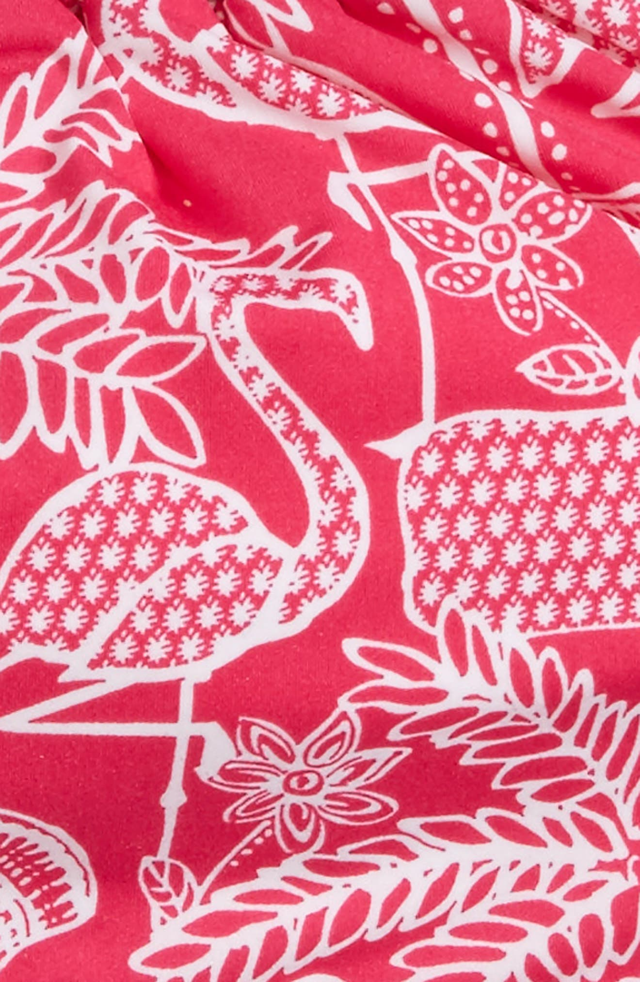 Flamingo Print Reversible Two-Piece Halter Swimsuit,                             Alternate thumbnail 3, color,                             Rhododendron