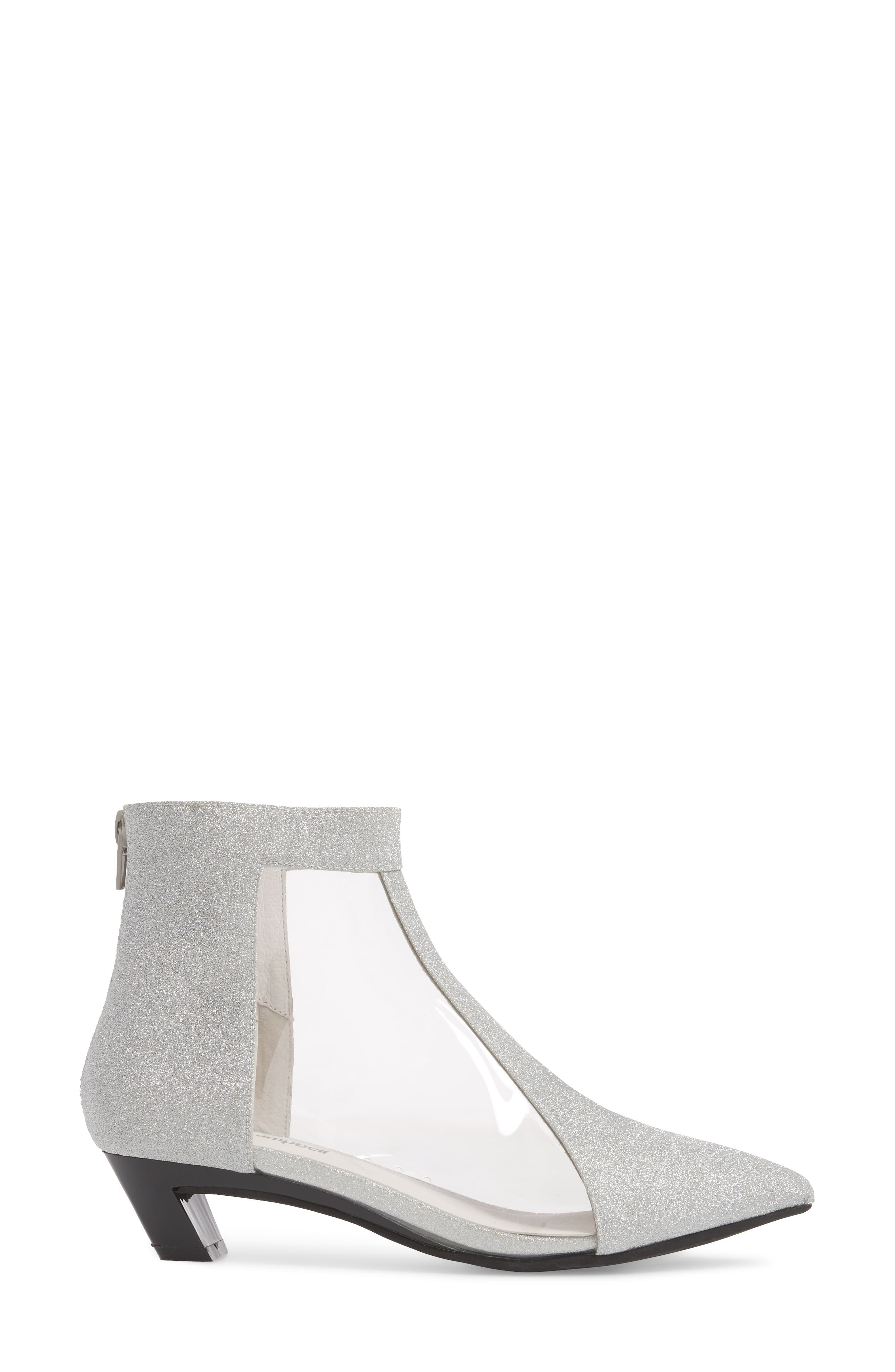 Mistress Bootie,                             Alternate thumbnail 3, color,                             Silver Glitter Leather