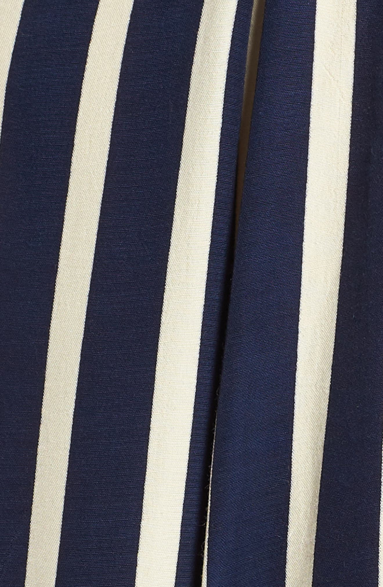 Milan Stripe Midi Dress,                             Alternate thumbnail 5, color,                             Mazur Stripe Print Navy