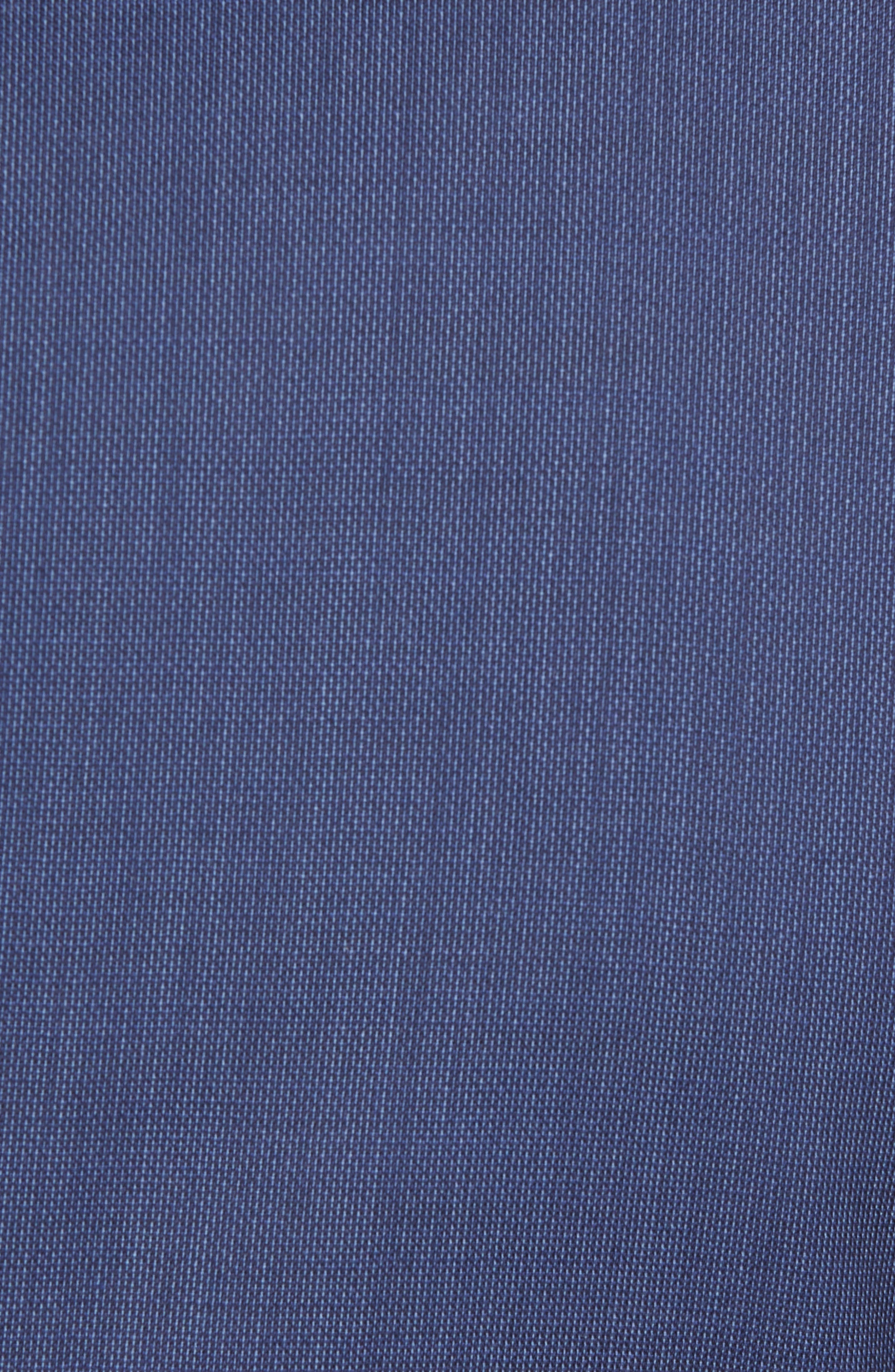 Reyno/Wave Extra Trim Fit Solid Wool Suit,                             Alternate thumbnail 7, color,                             Medium Blue