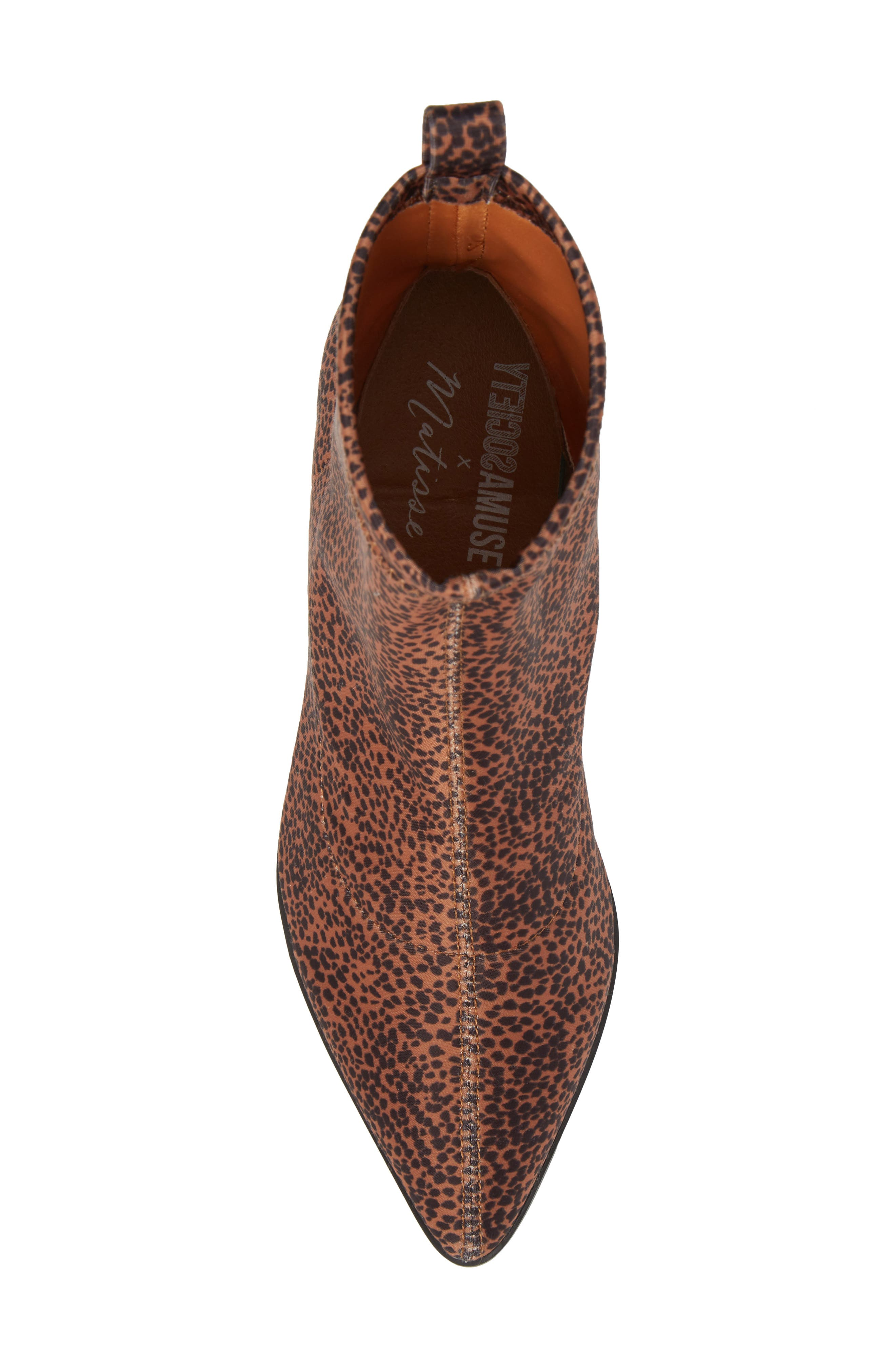Amuse Society x Matisse Liliana Sock Bootie,                             Alternate thumbnail 5, color,                             Brown Stretch Fabric