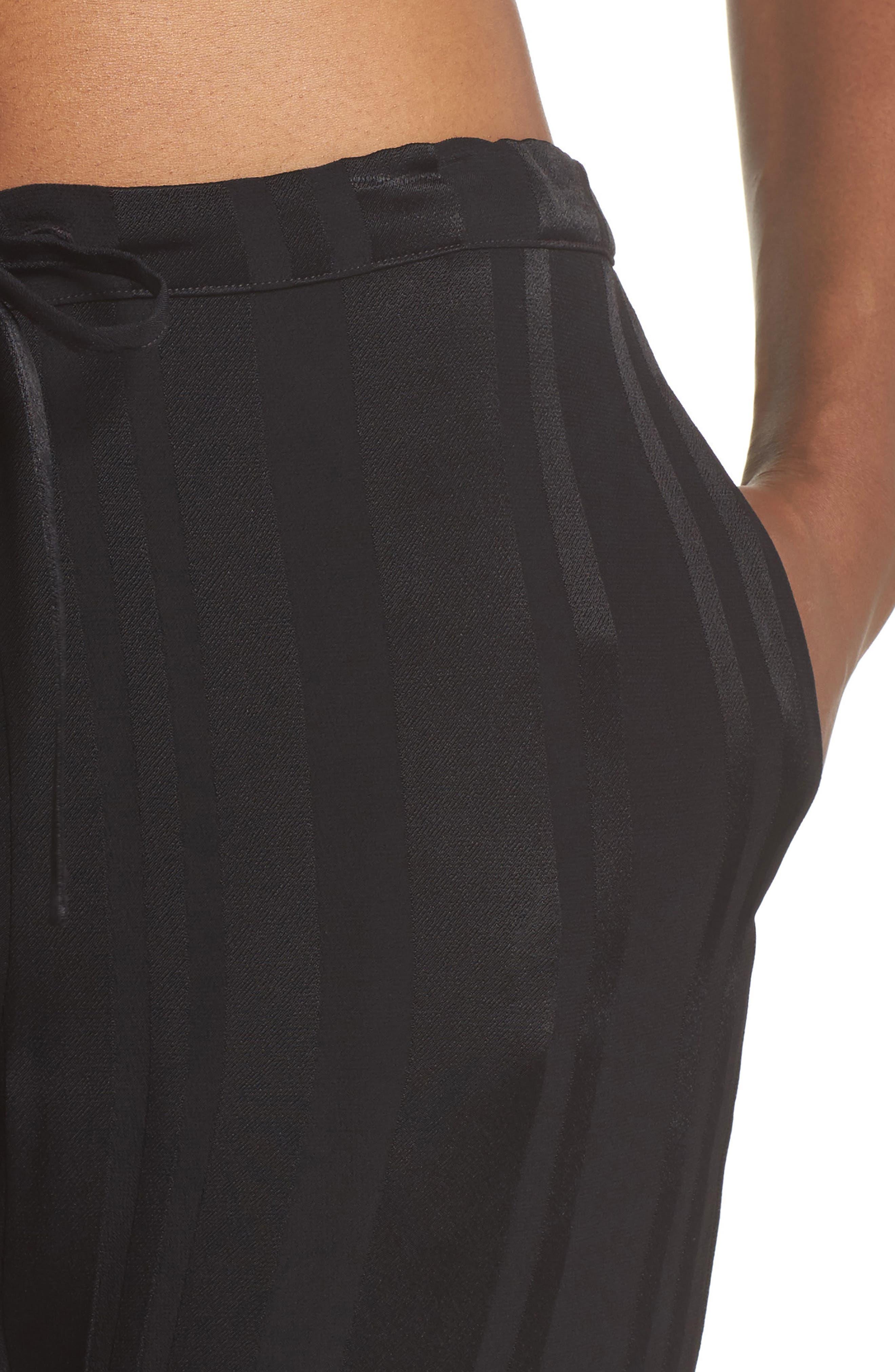 Vela Stripe Lounge Pants,                             Alternate thumbnail 5, color,                             Tar