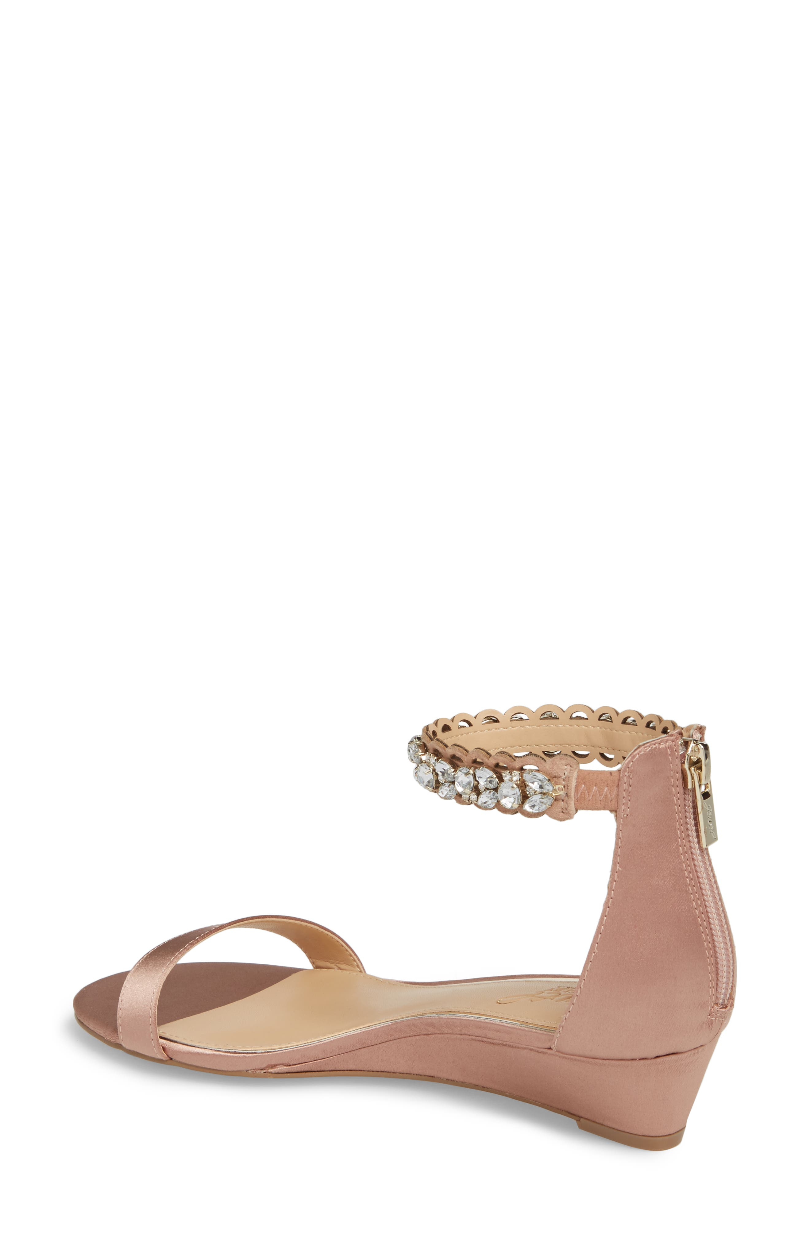 Ginger Wedge Sandal,                             Alternate thumbnail 2, color,                             Dark Blush