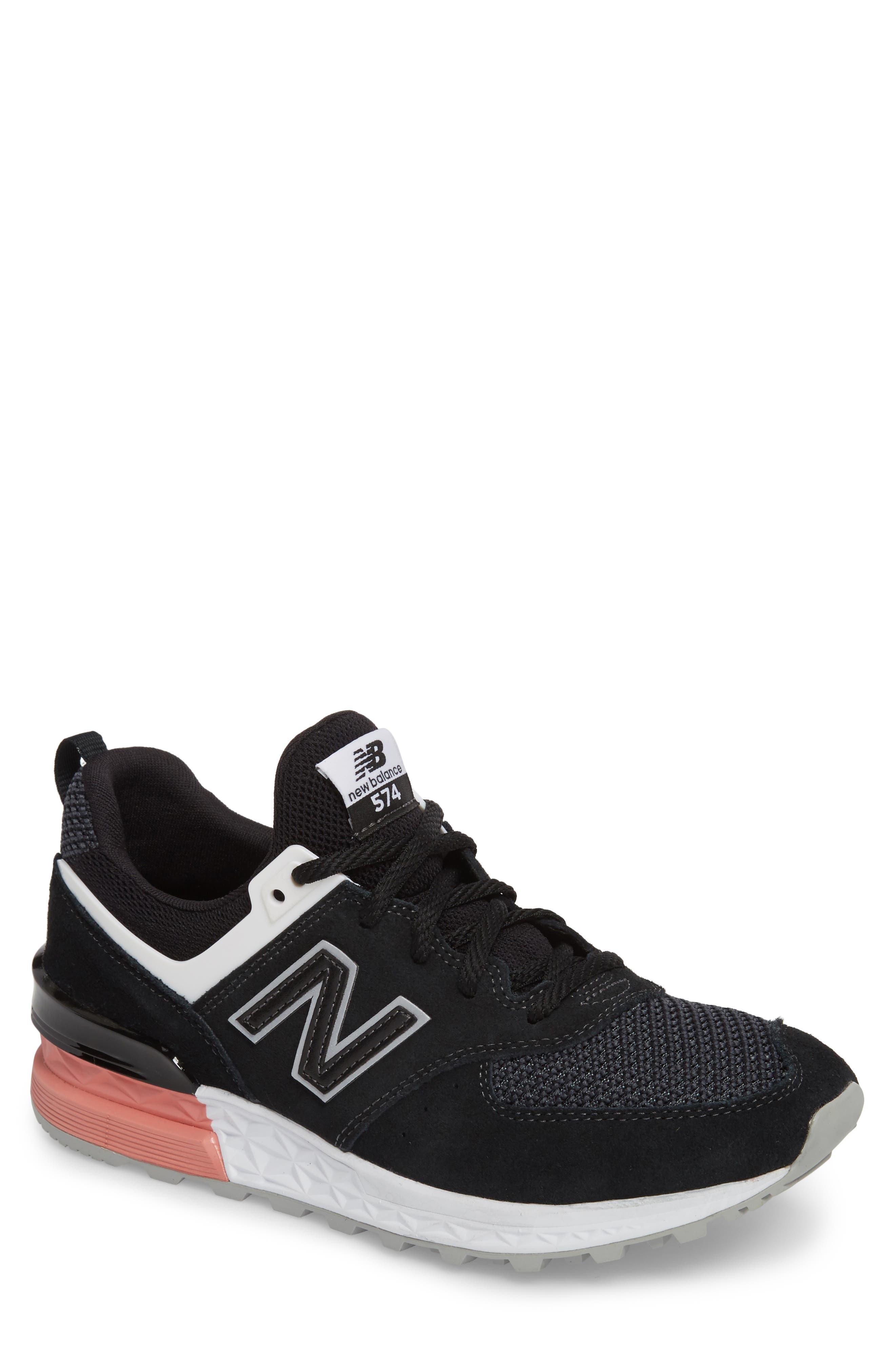 574 T3 Sport Sneaker,                             Main thumbnail 1, color,                             Black
