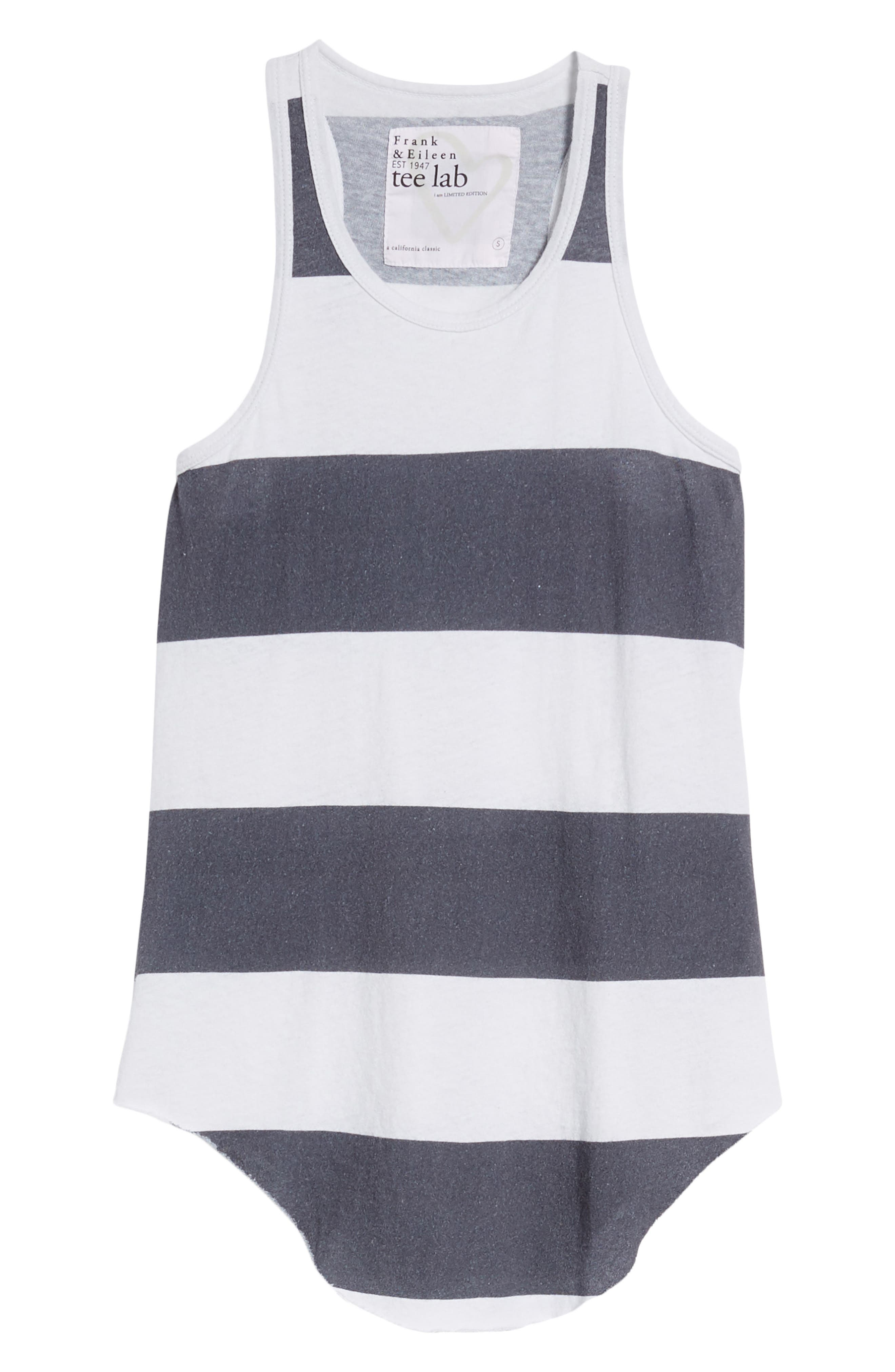 Stripe Long Layering Tank,                             Alternate thumbnail 7, color,                             Carbon Rugby