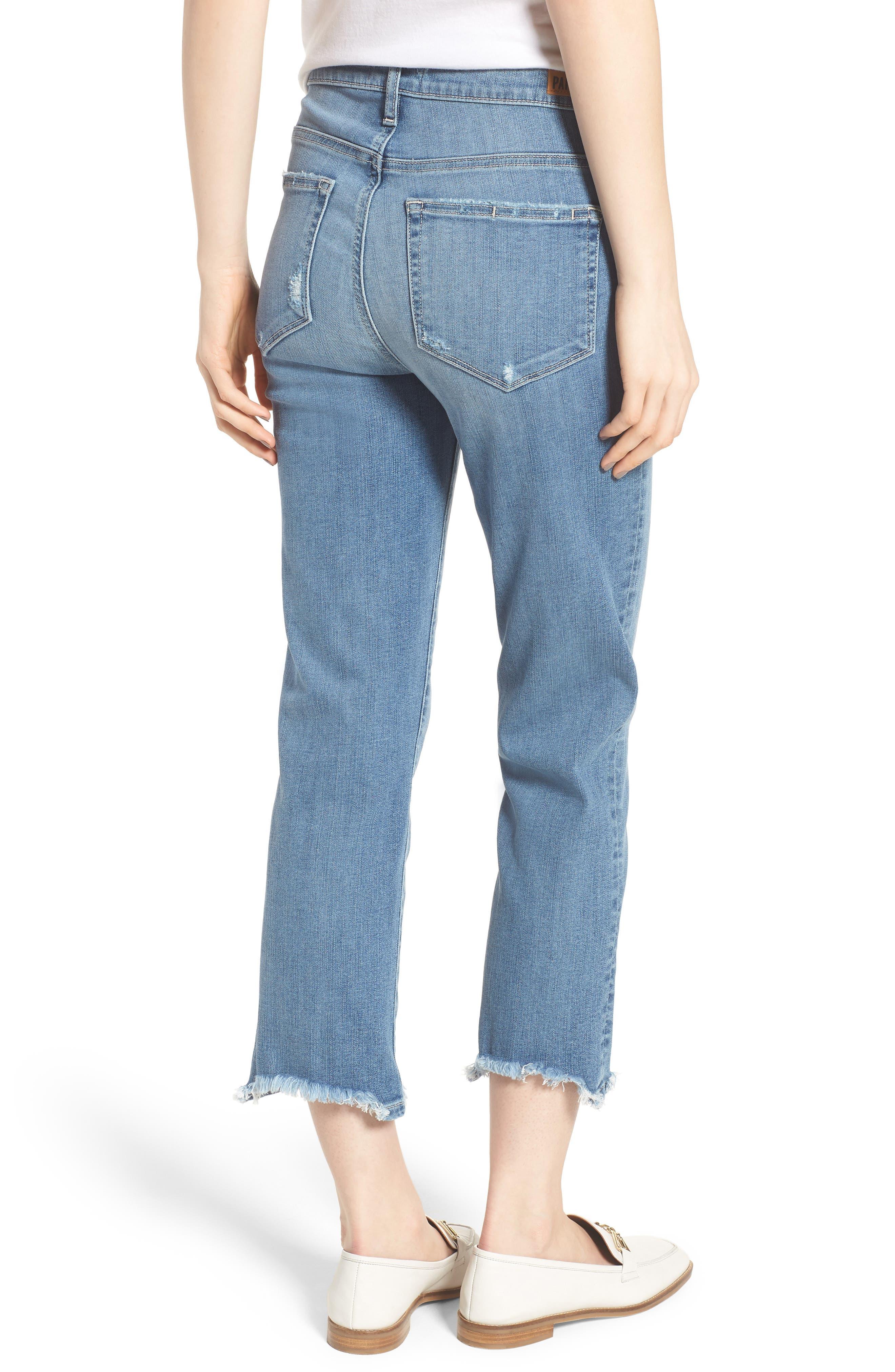 Transcend Vintage - Hoxton High Waist Crop Straight Leg Jeans,                             Alternate thumbnail 2, color,                             Zahara