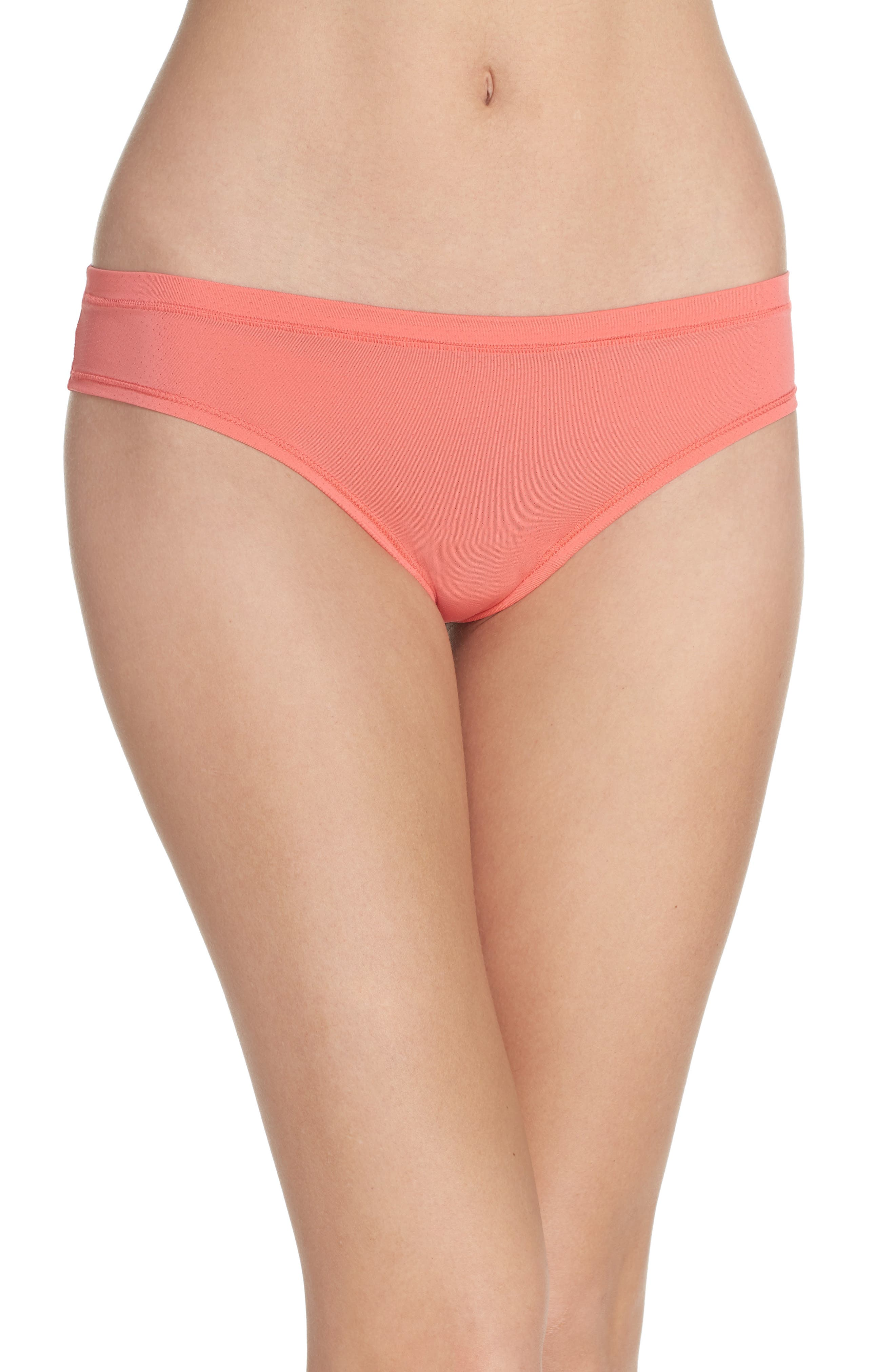 Main Image - Zella Body Perforated Active Thong (3 for $33)