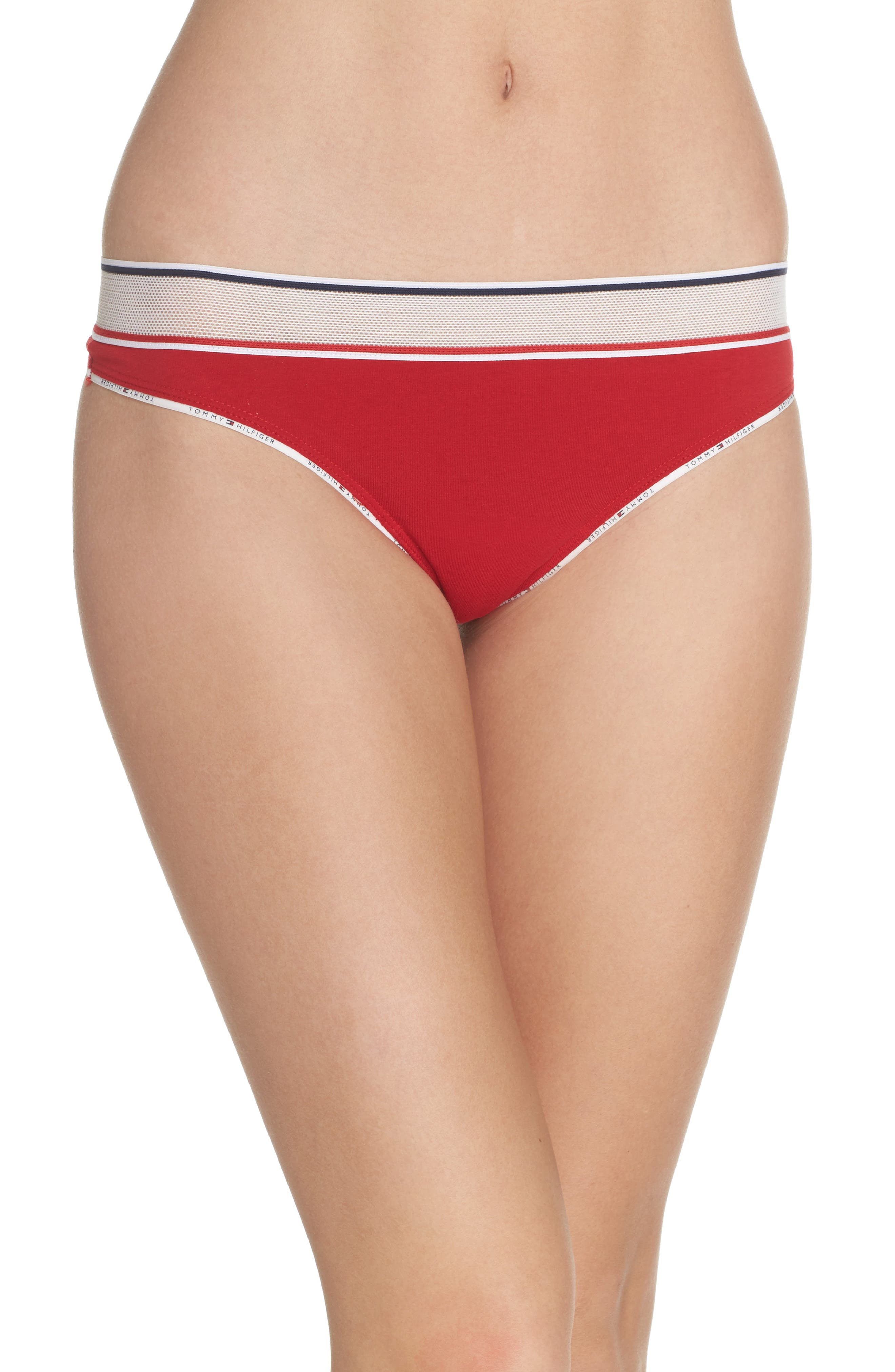 Alternate Image 1 Selected - Tommy Hilfiger Mesh Band Thong