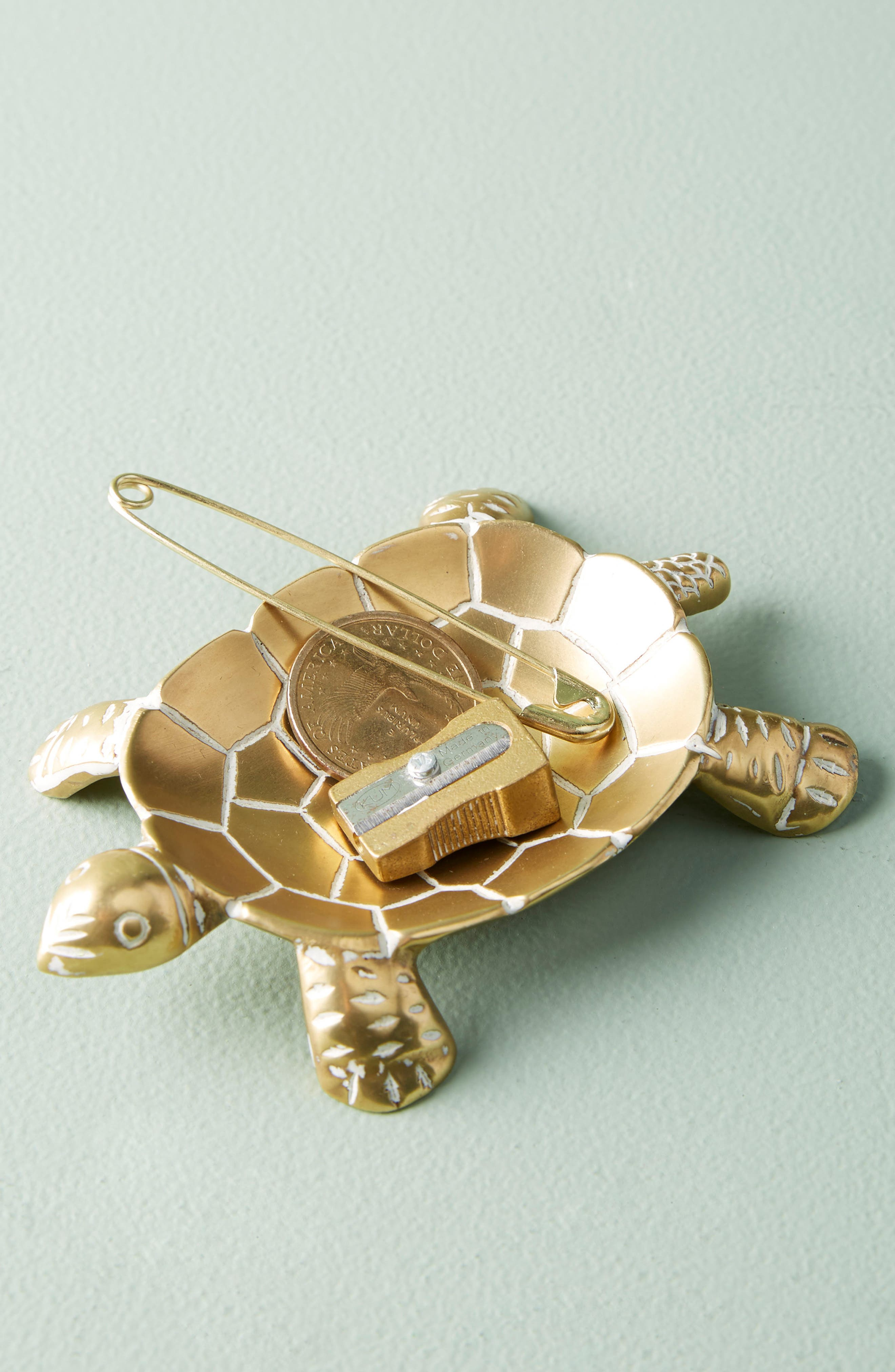 Turtle Trinket Dish,                         Main,                         color, Gold