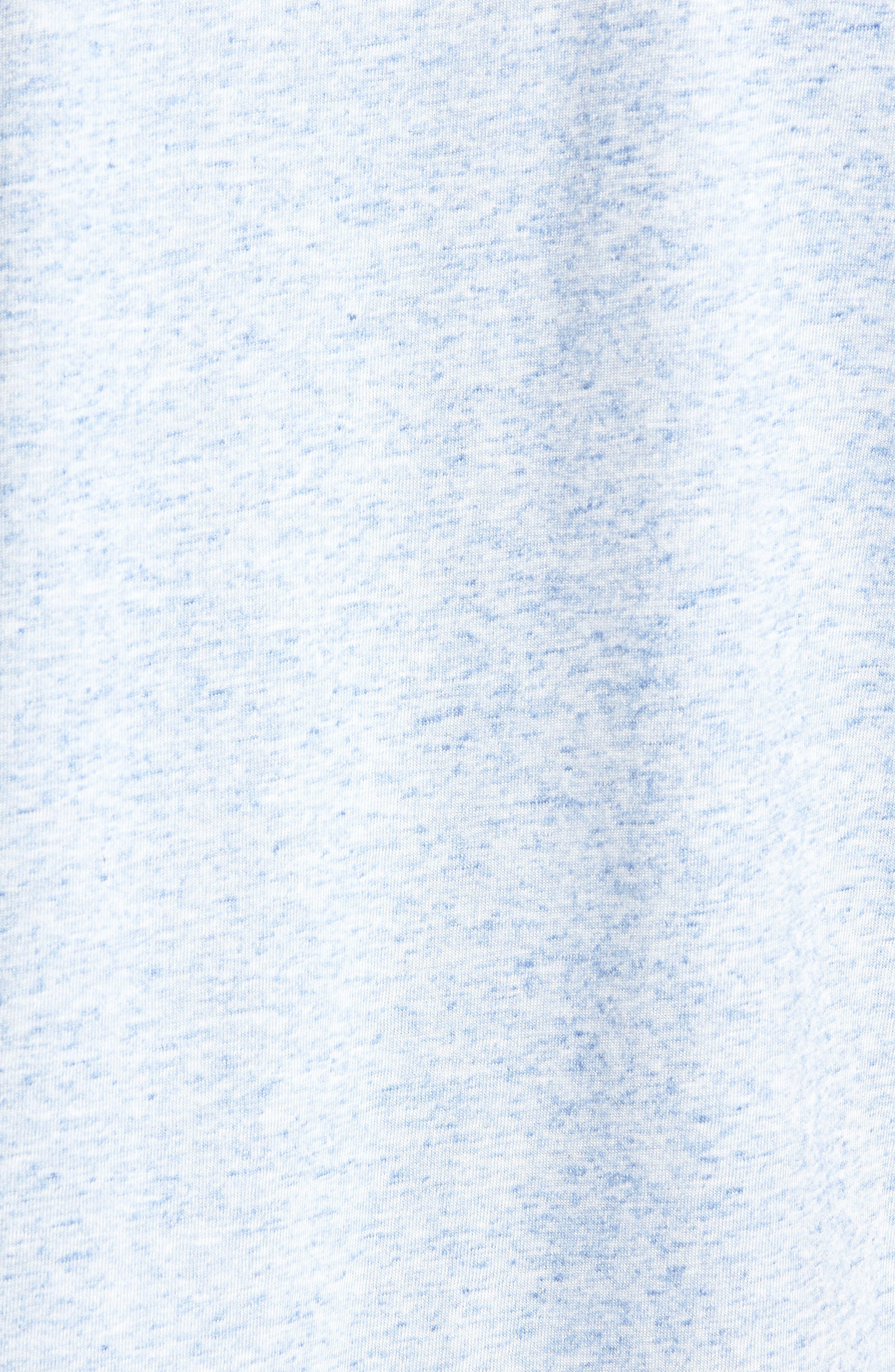 Crewneck T-Shirt,                             Alternate thumbnail 5, color,                             Blue Lake Heather
