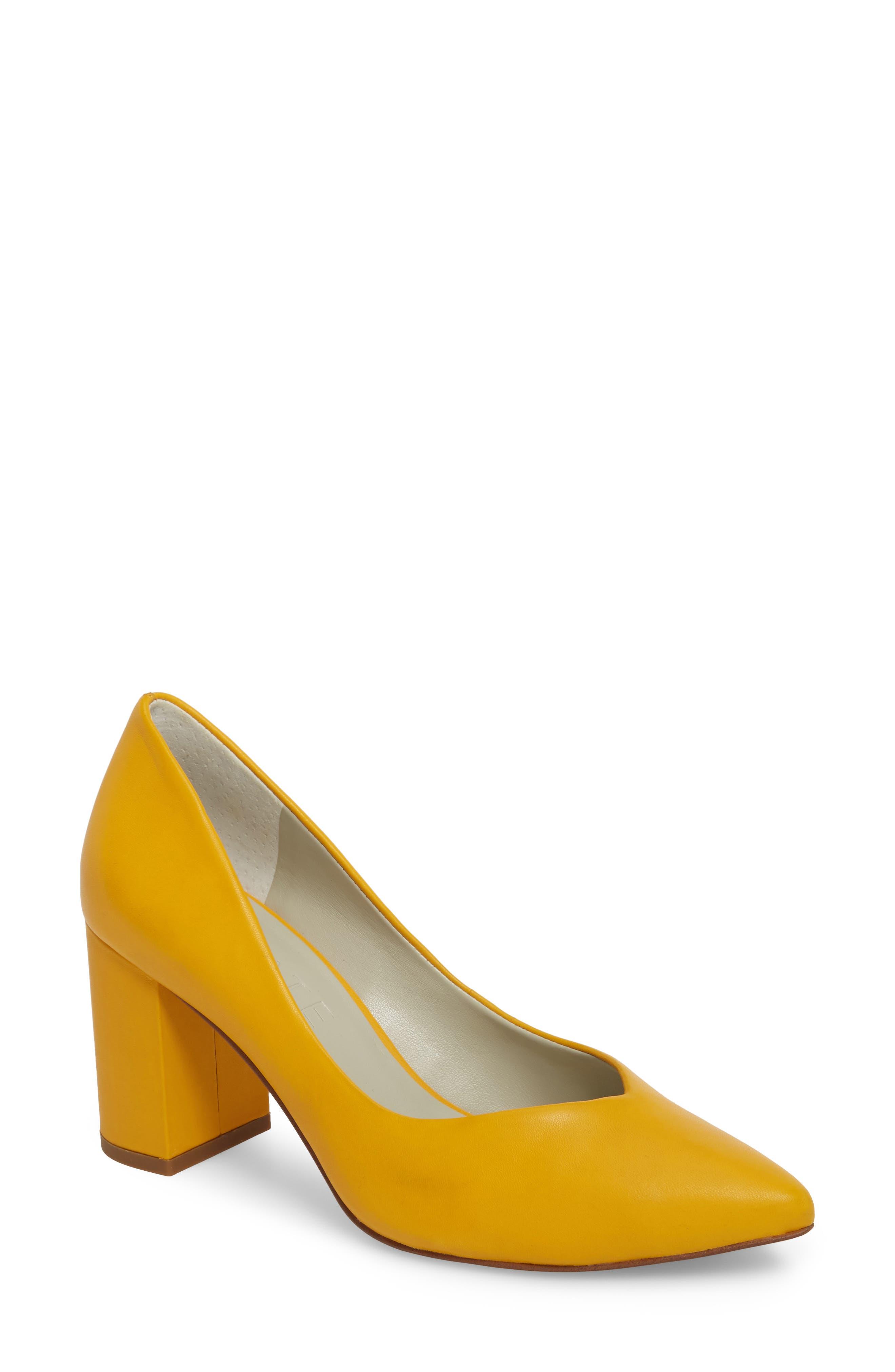 Saffy Block Heel Pump,                         Main,                         color, Spectra Leather