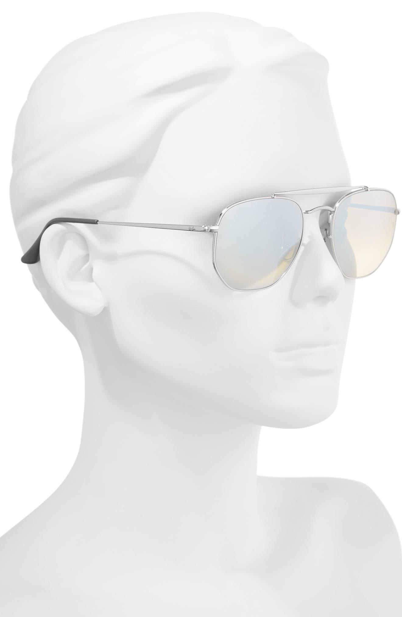 Marshal 54mm Aviator Sunglasses,                             Alternate thumbnail 2, color,                             Silver/ Mirror