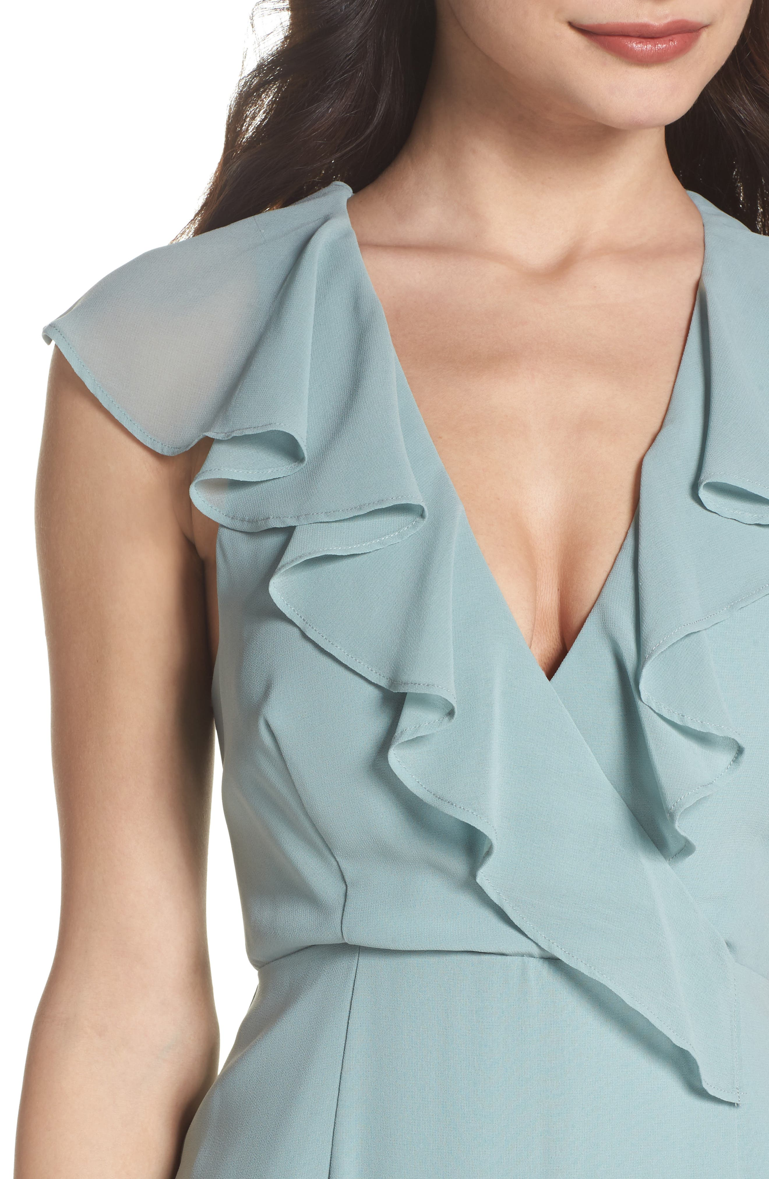 C/MEO Be About You Ruffle Gown,                             Alternate thumbnail 6, color,                             Sage