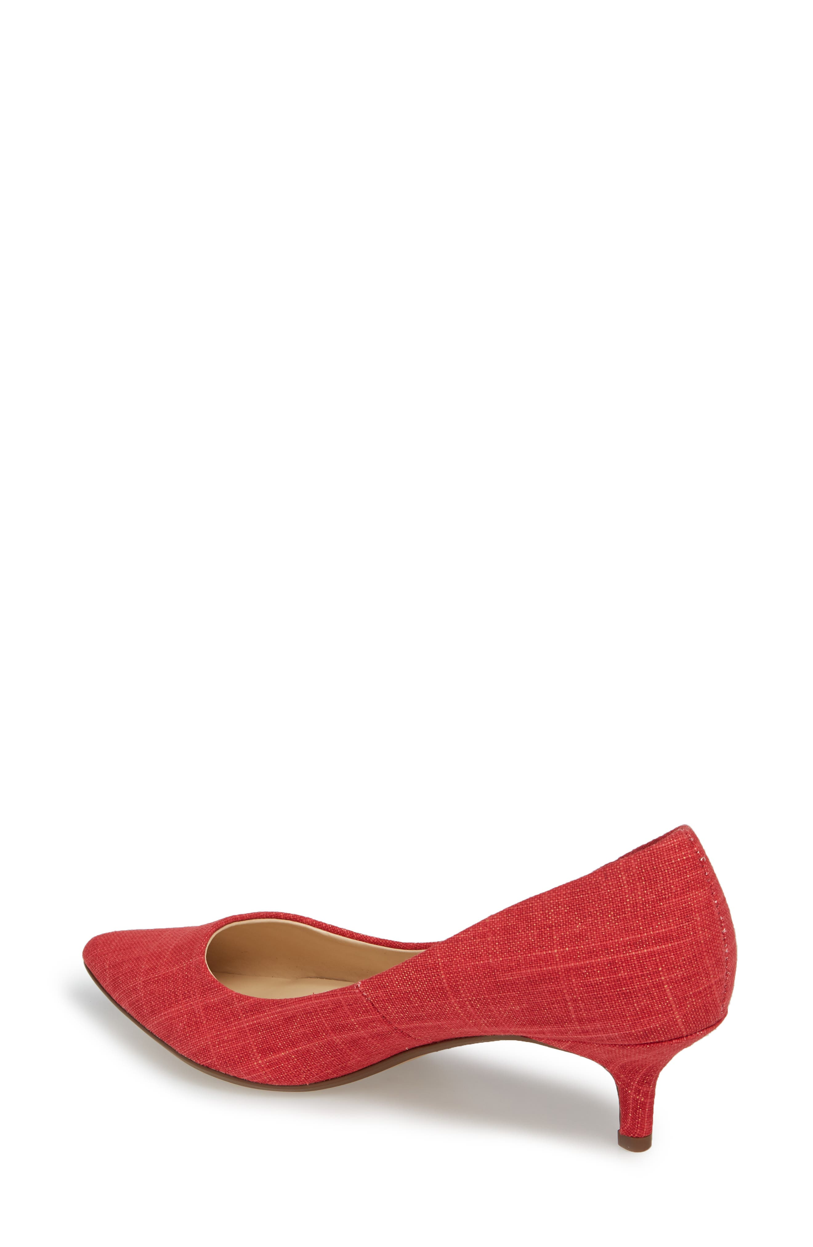 Target Kitten Heel Pump,                             Alternate thumbnail 2, color,                             Red Fabric
